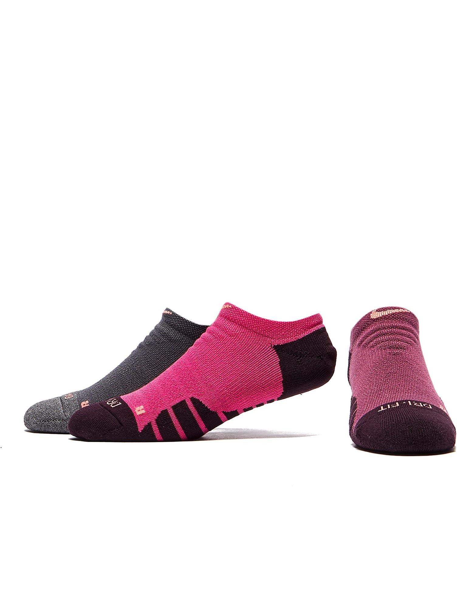 Nike Three Pack No Show Running Socks