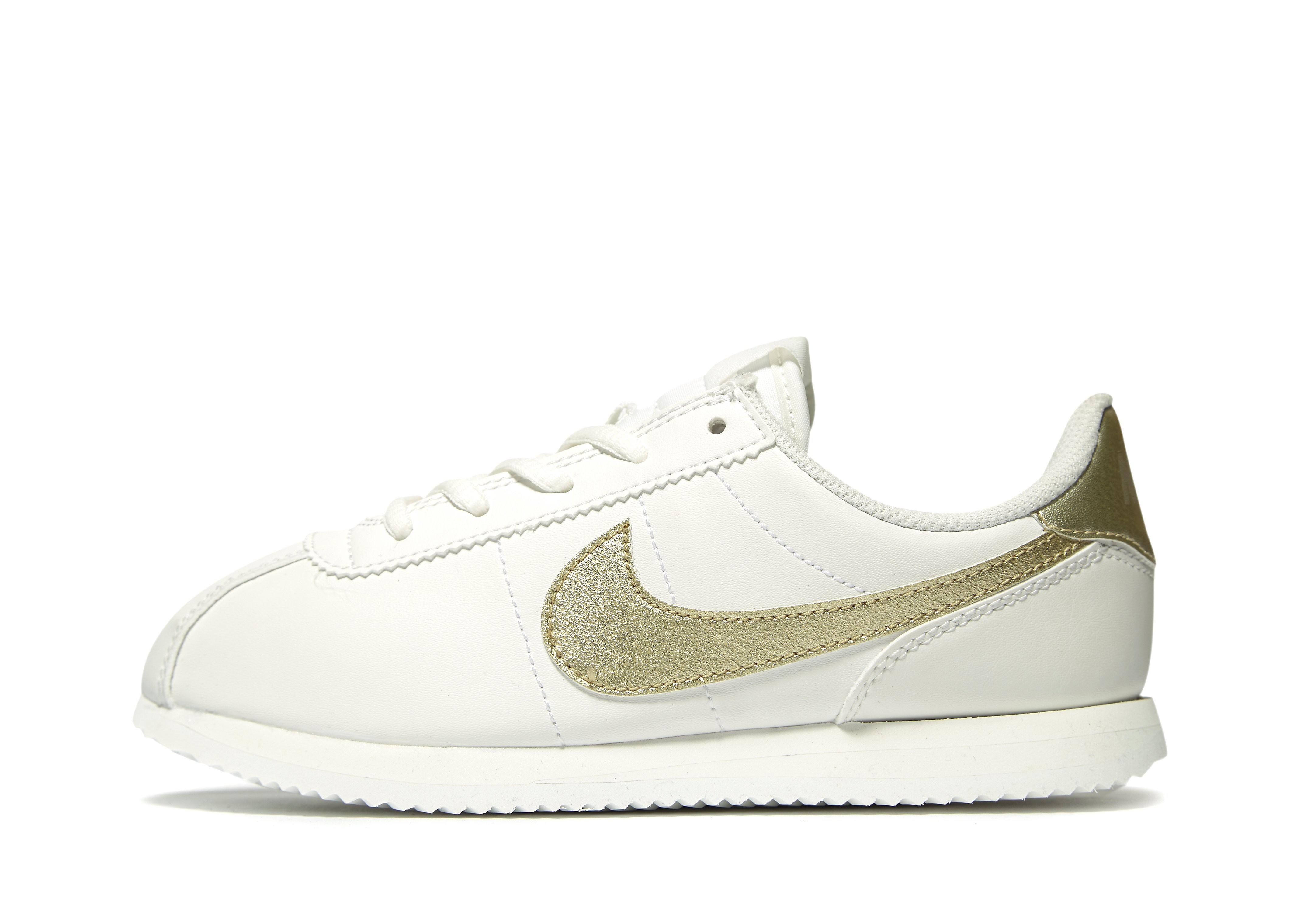 Nike Cortez Kinder Weiß-Gold