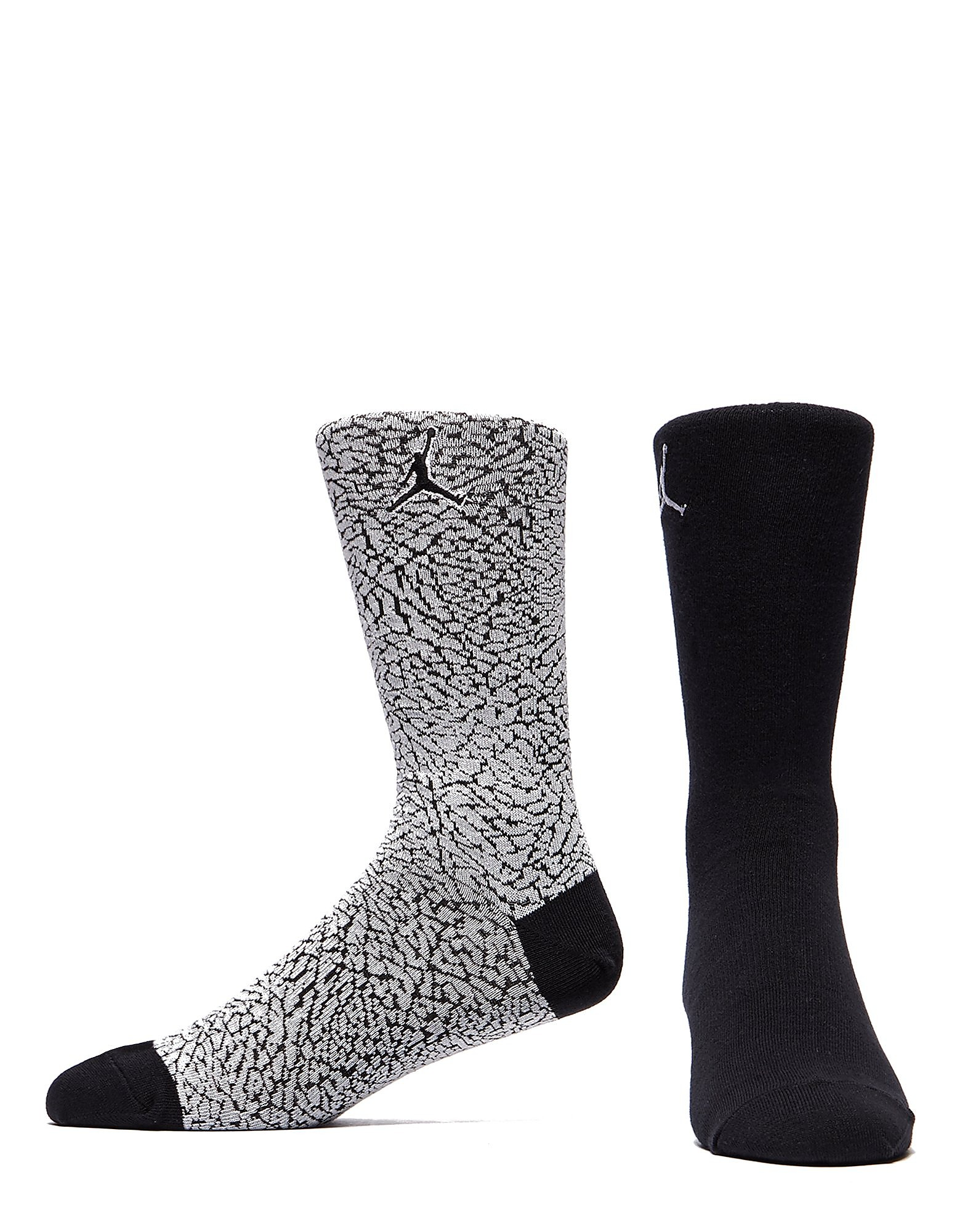 Jordan 2 Pack Elephant Print Socks