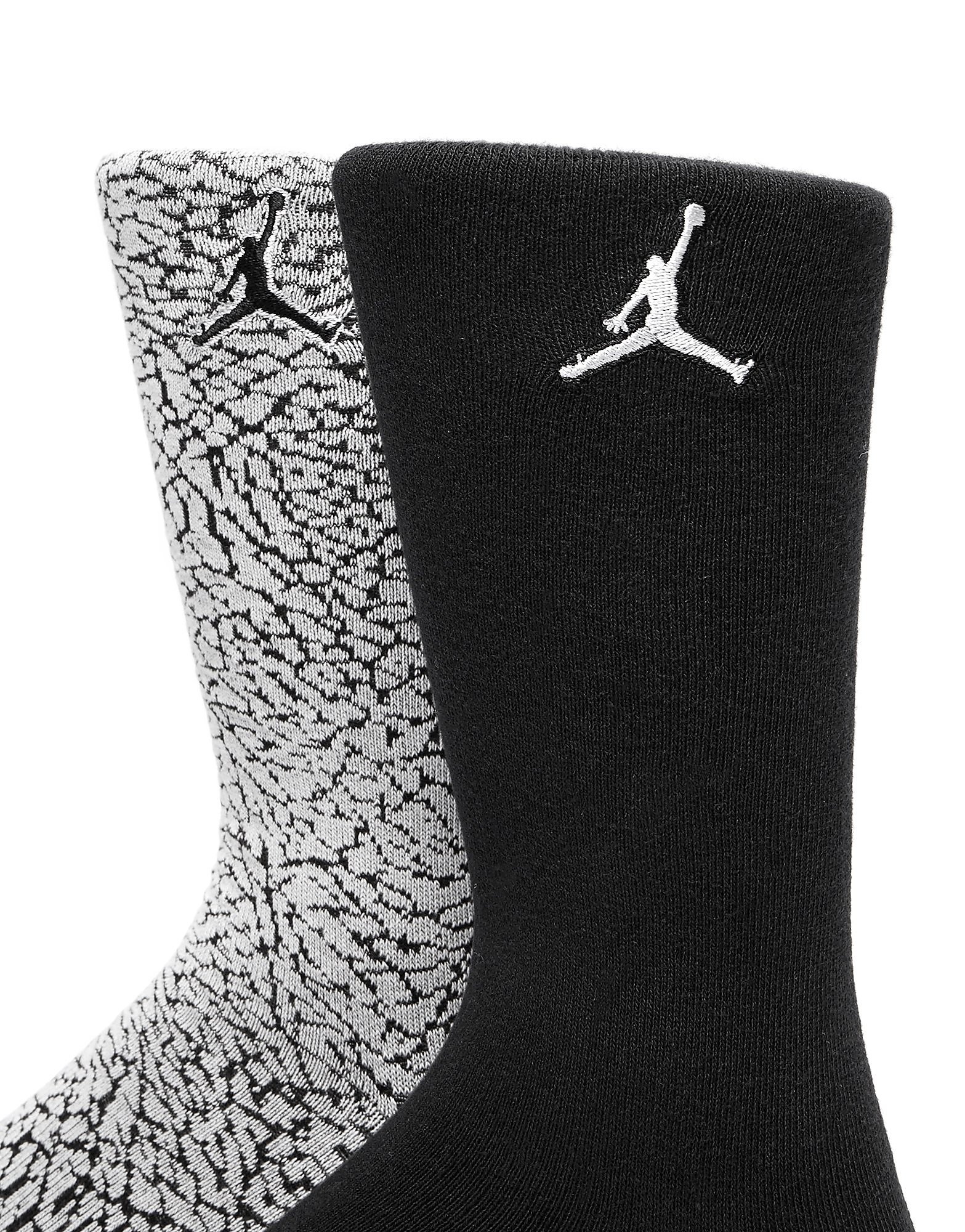 Jordan 2 Pack Elephant Print Socks