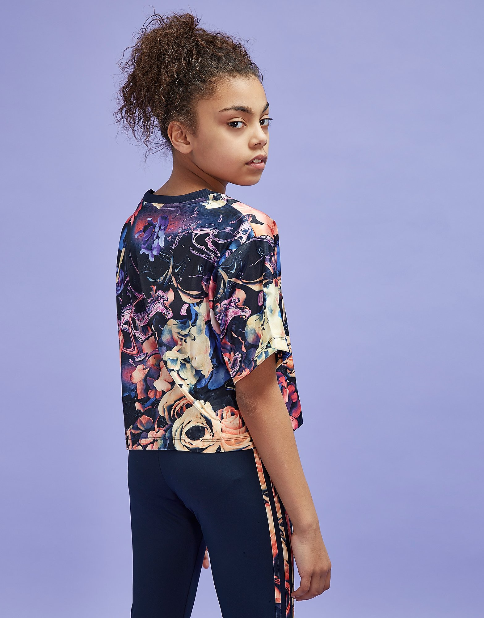 adidas Originals Girls' Flower Crop Top Junior