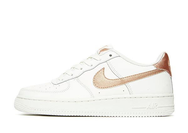 nike air force 1 low junior white rose gold bluewater. Black Bedroom Furniture Sets. Home Design Ideas