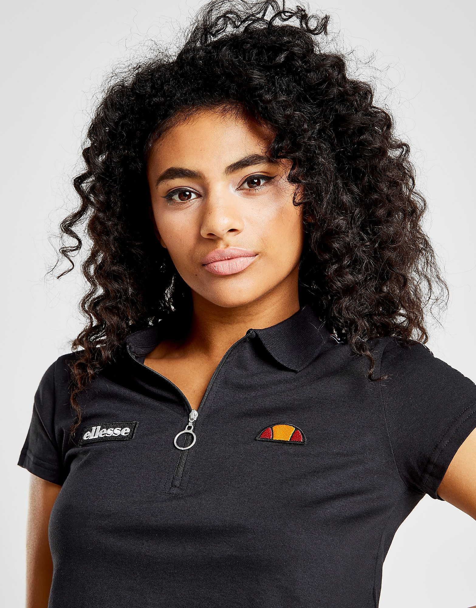 Ellesse Tape Crop Polo Shirt