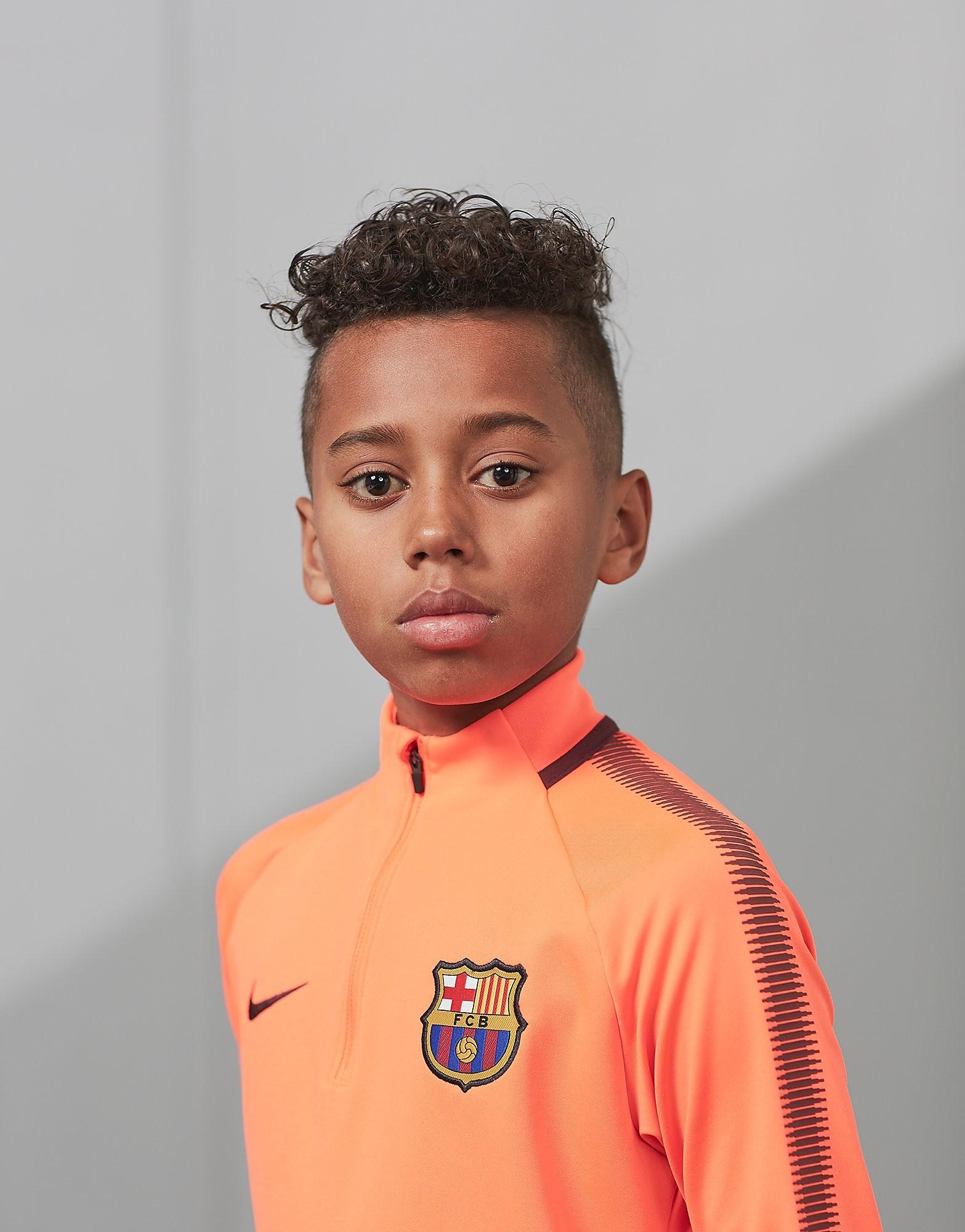 Nike FC Barcelona Dry Team Übung Fußball Top Junior
