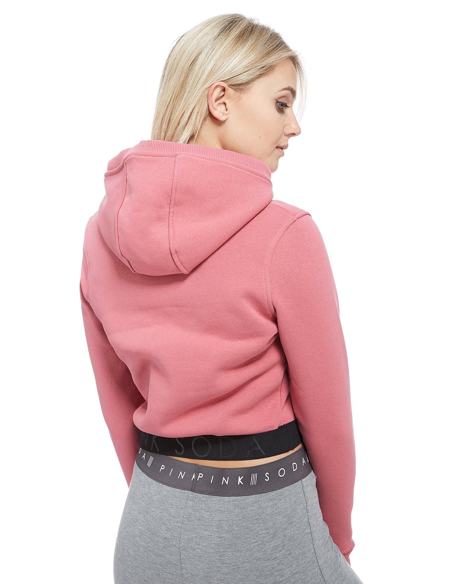 Pink Soda Sport Sweat à capuche Cropped Overhead Femme