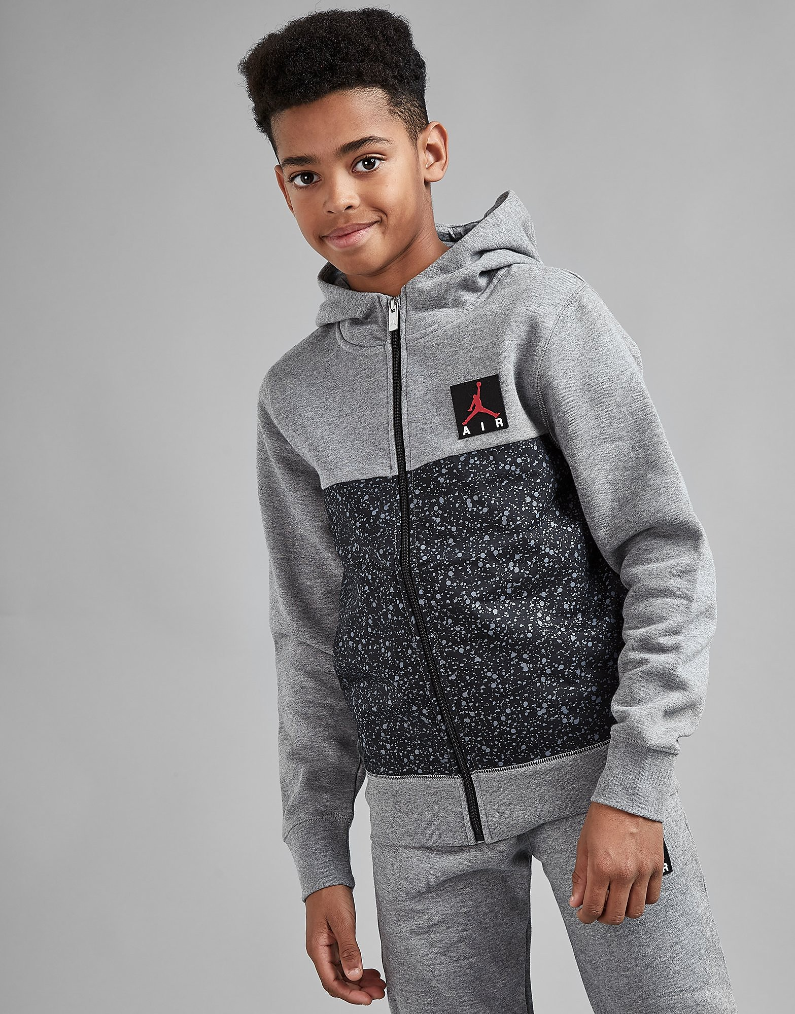Jordan Cement Full Zip Hoodie Junior