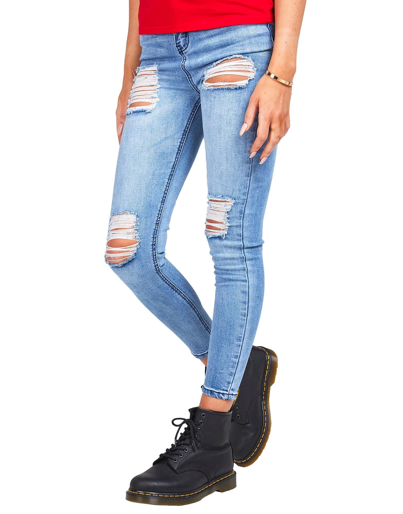 SikSilk Rip High Waisted Skinny Jean