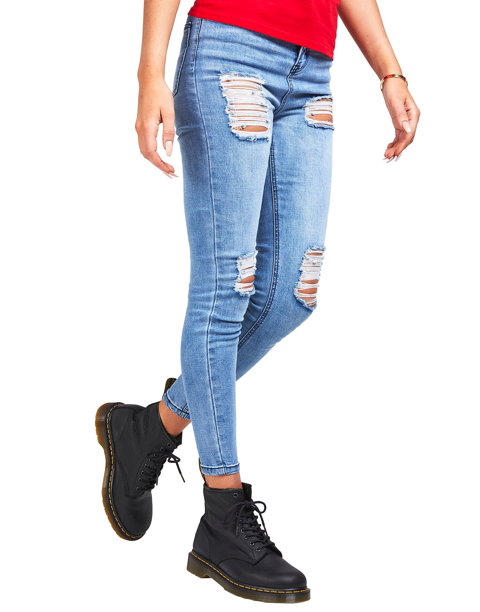SikSilk Rip High Skinny Jean