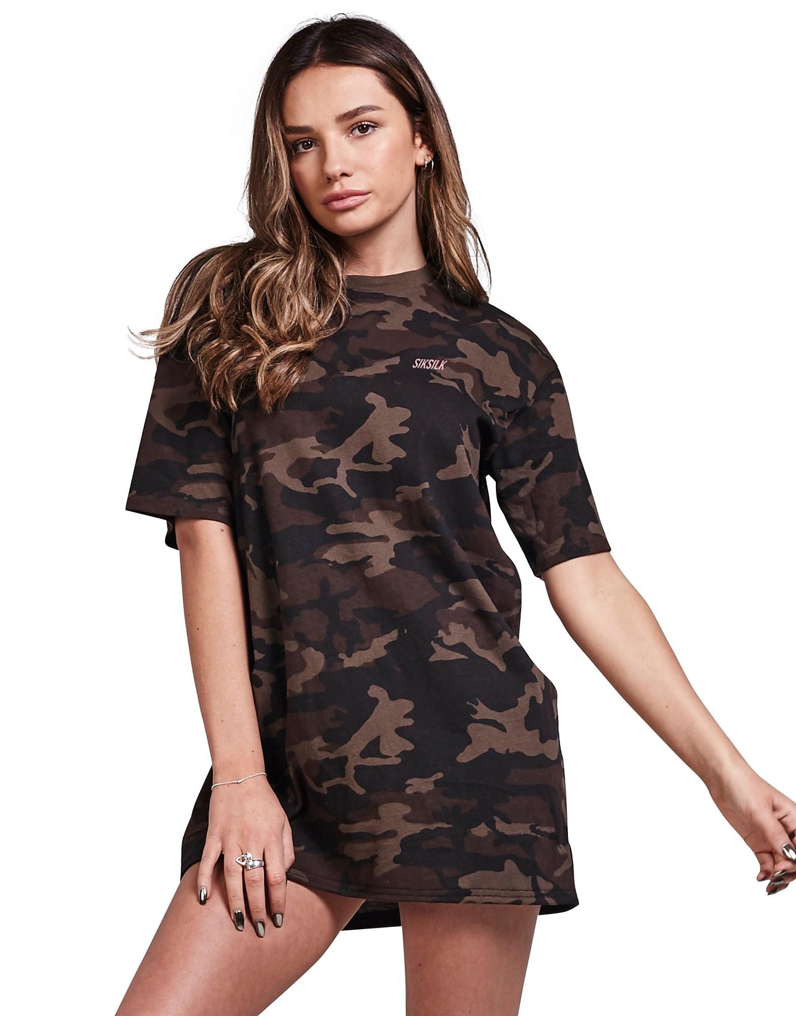 SikSilk Camo T-Shirt Dress