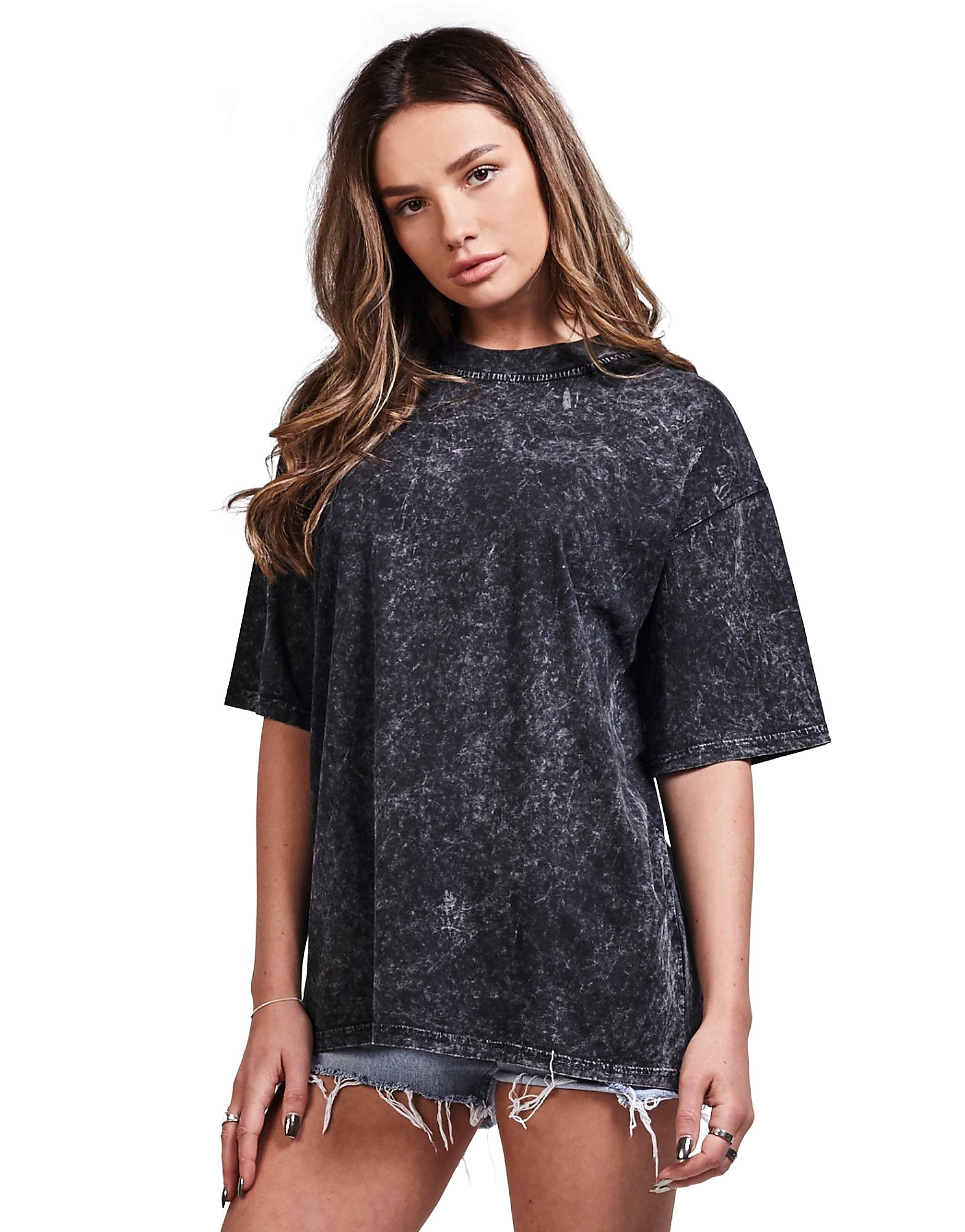 SikSilk Over Sized Distressed T-Shirt Donna