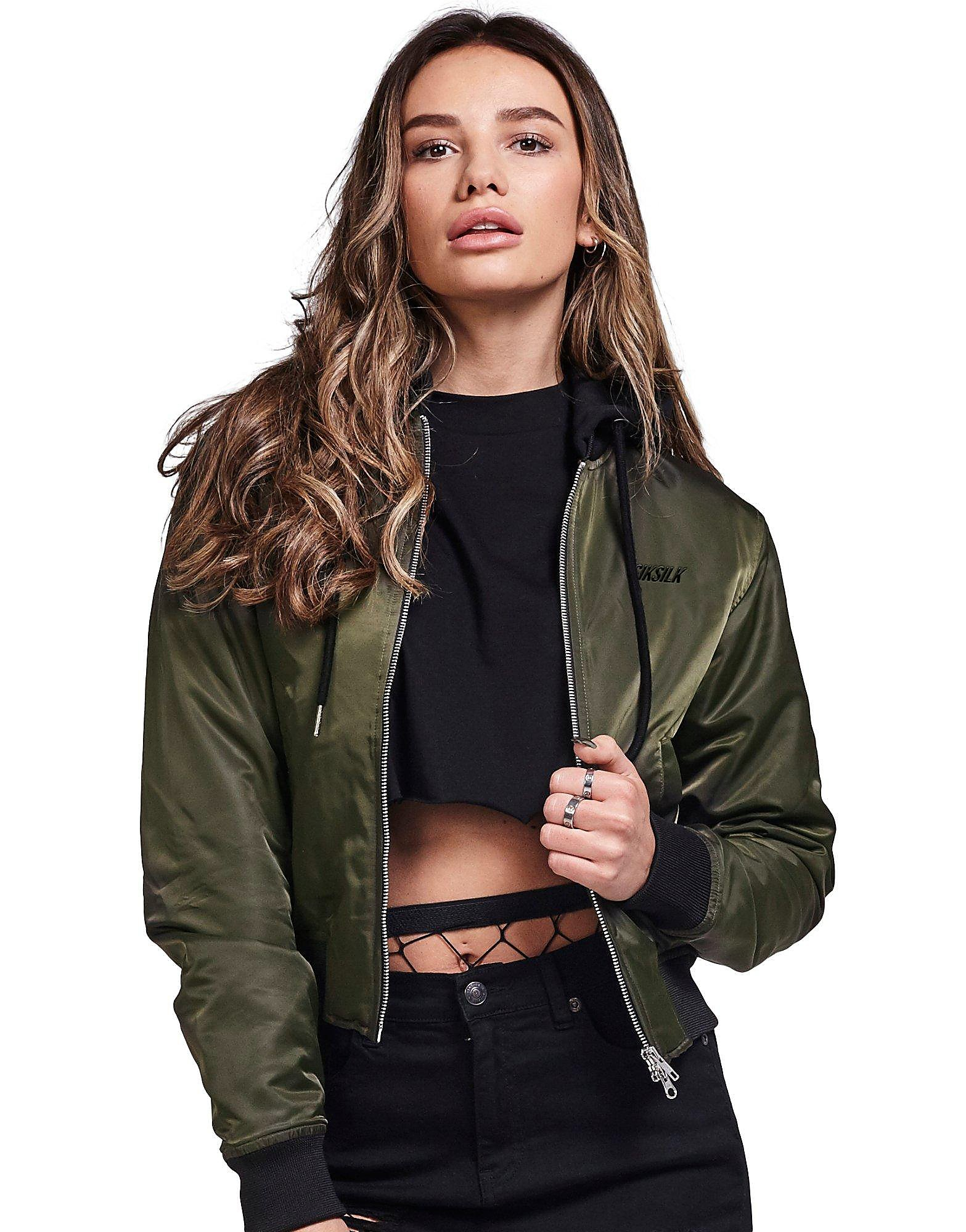 SikSilk Hooded Bomber Jacket