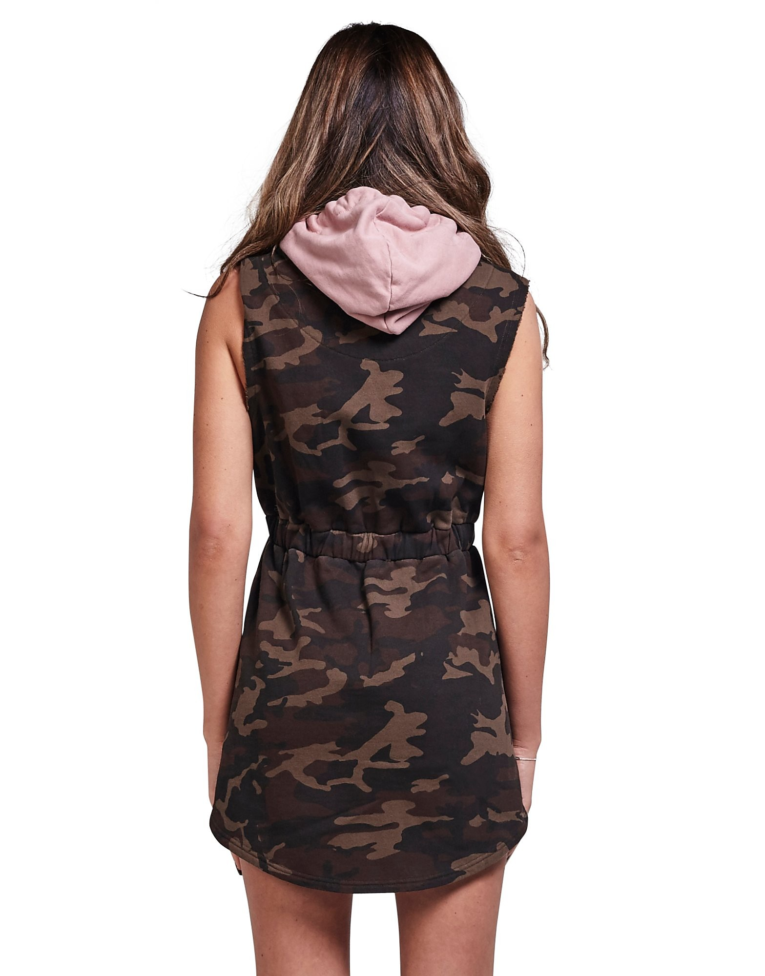 SikSilk Sleeveless Camo Hoody Dress