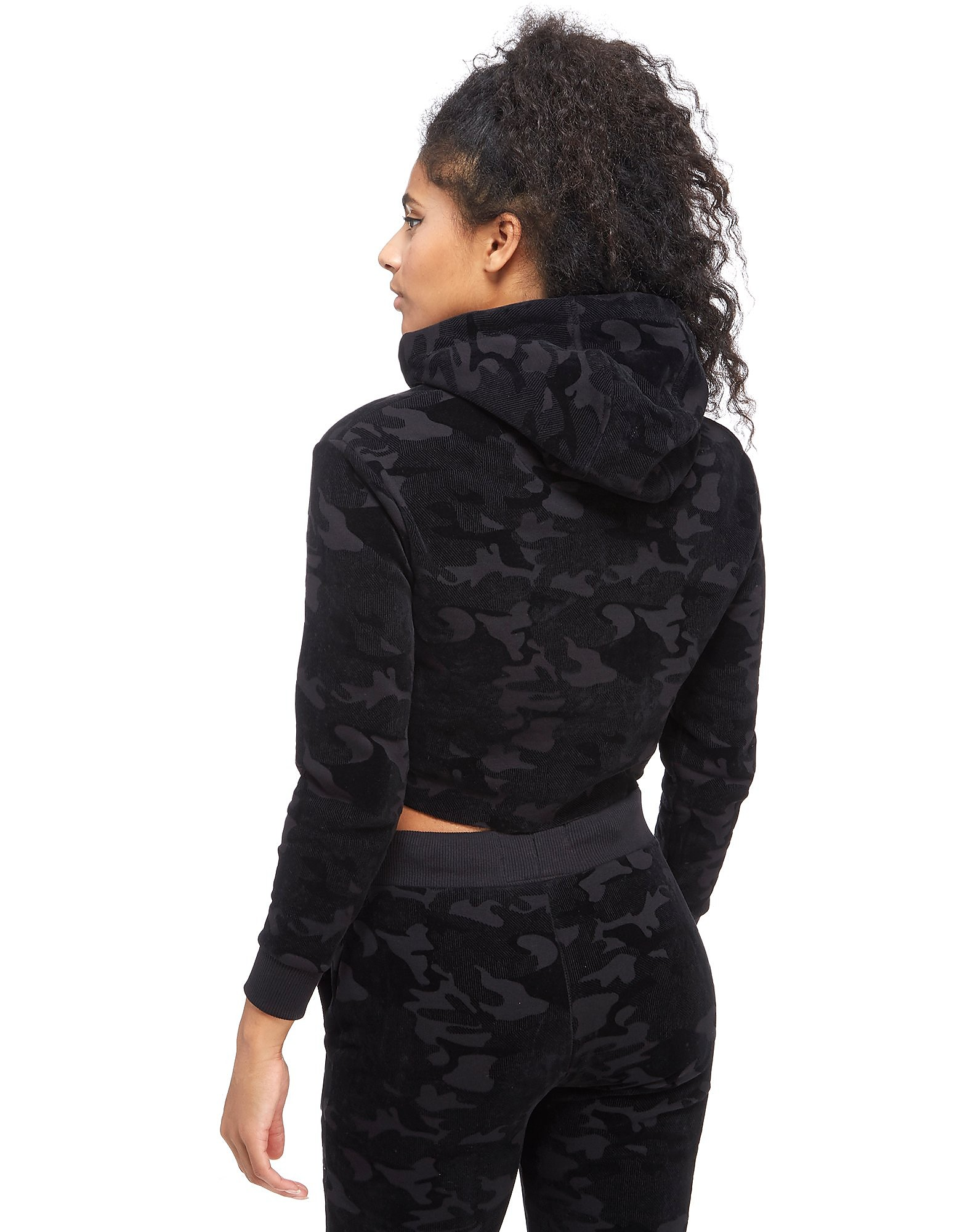 Supply & Demand Velour Camo Crop Hoody