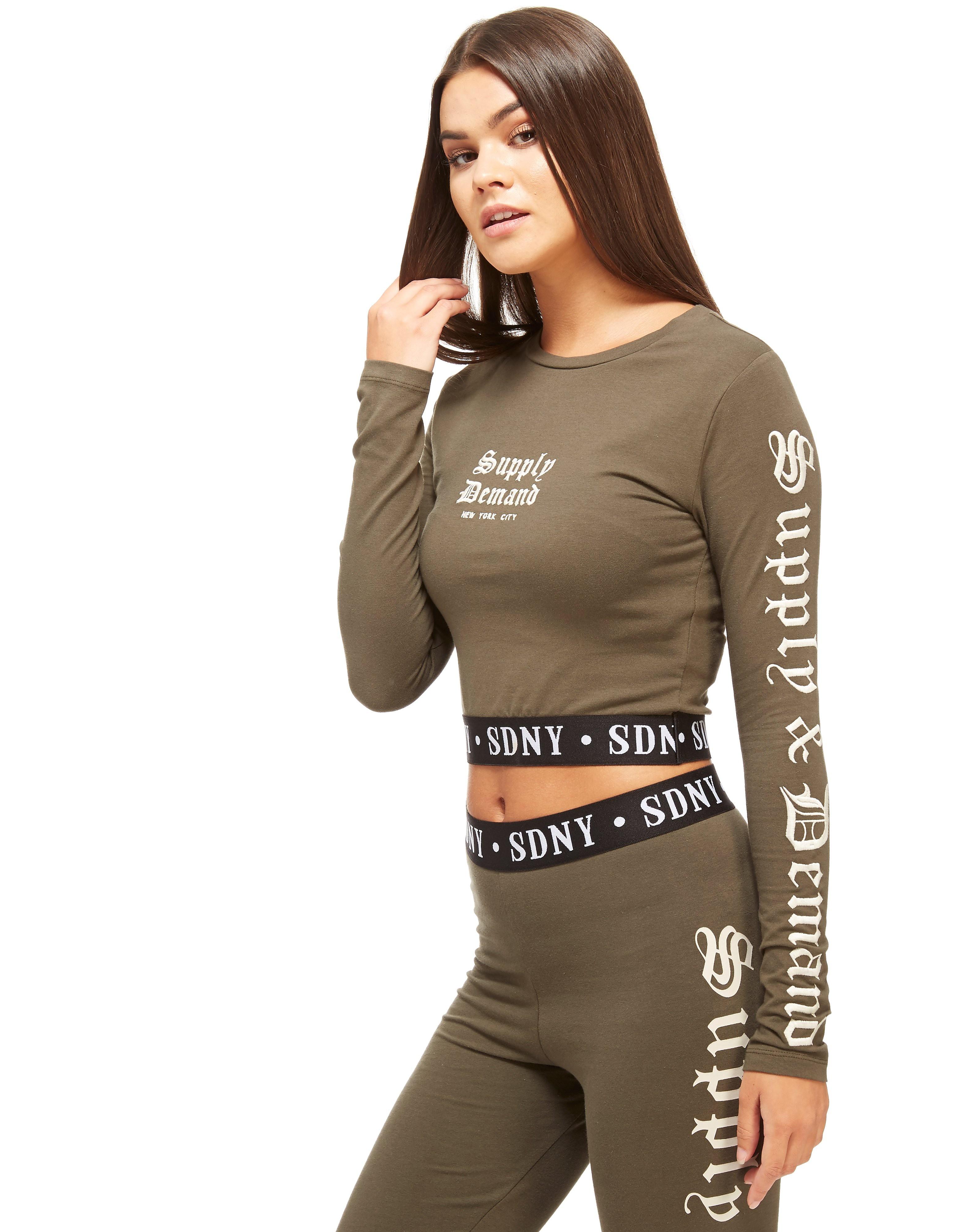 Supply & Demand Long-sleeved Crop T-shirt