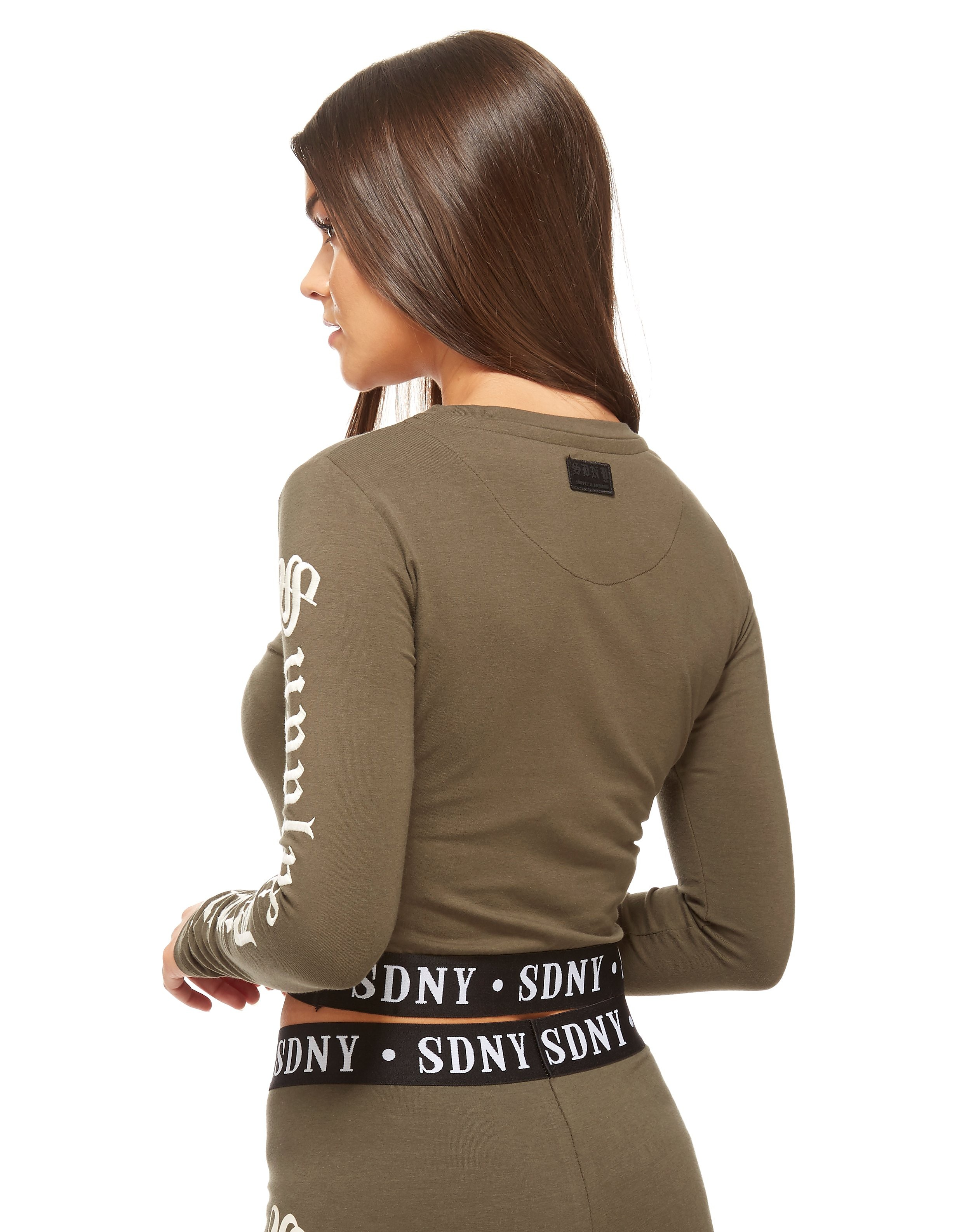 Supply & Demand Long-sleeved Crop T-shirt