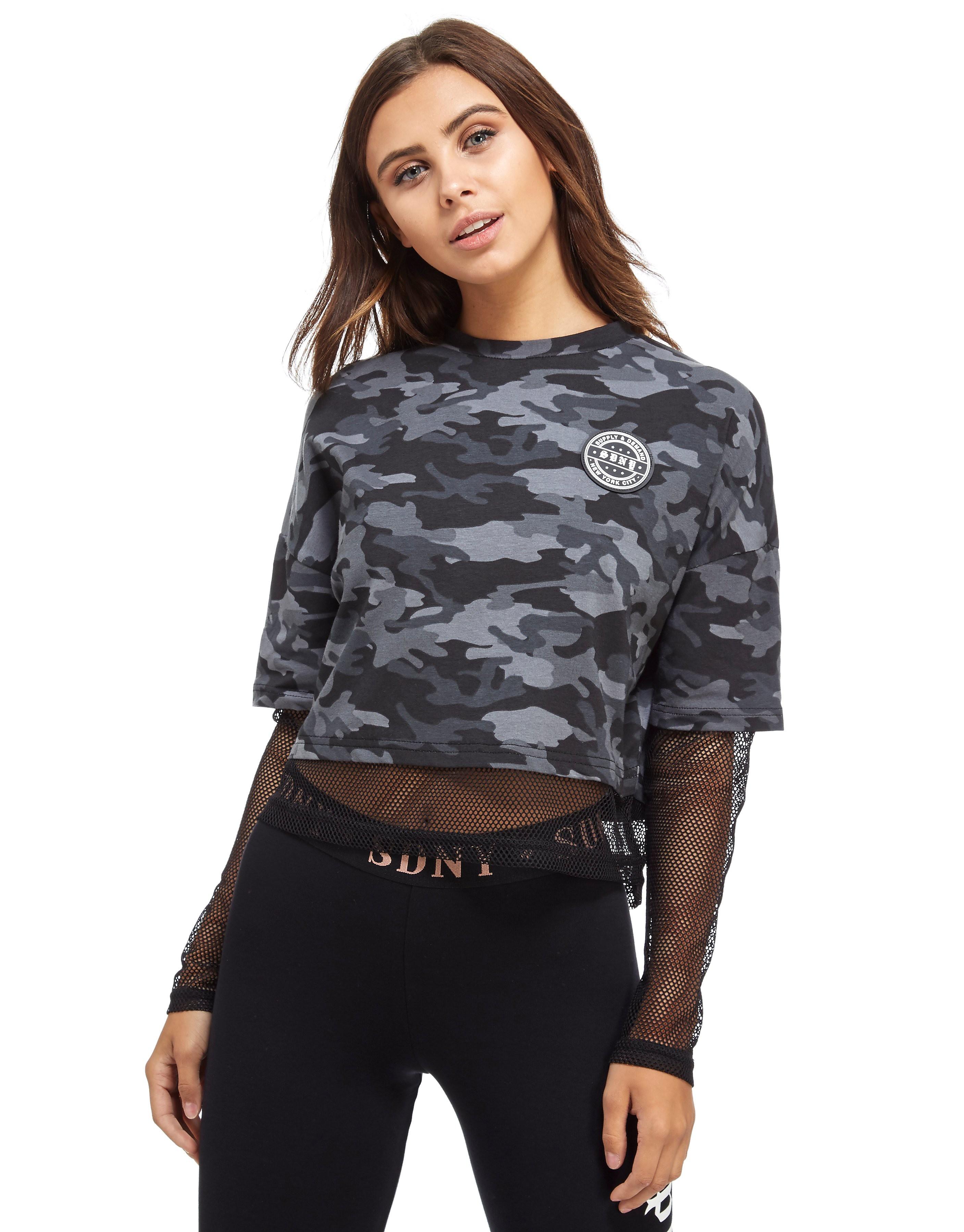 Supply & Demand T-shirt Fishnet Camo Femme