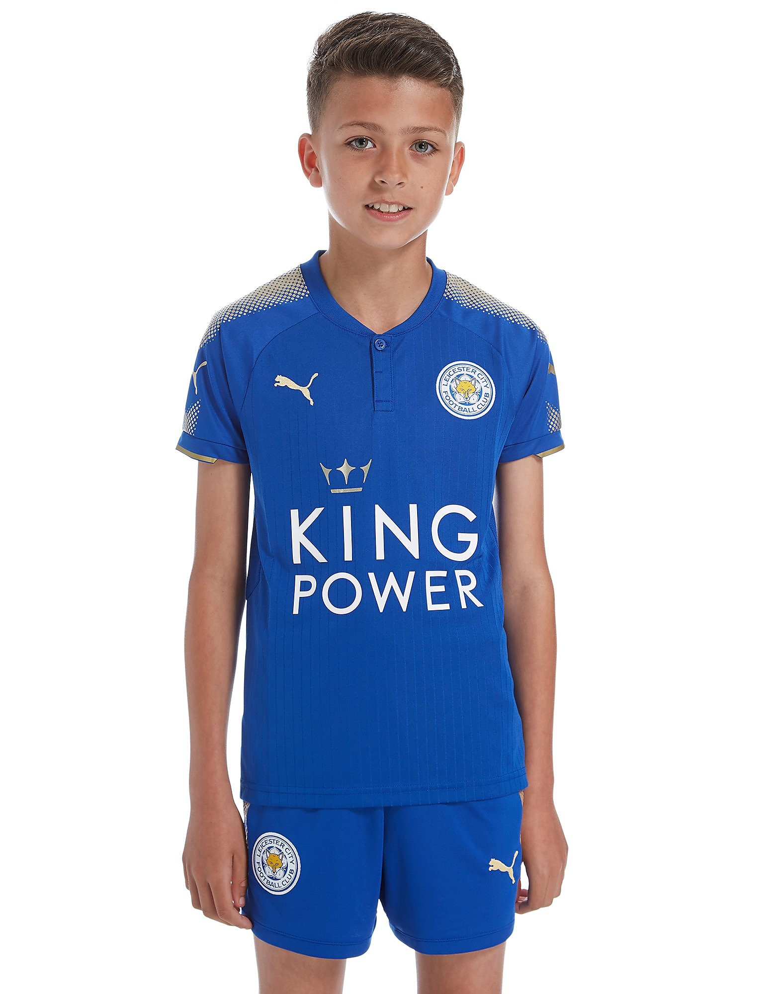 PUMA Leicester City FC 2017/18 Home Shirt Junior