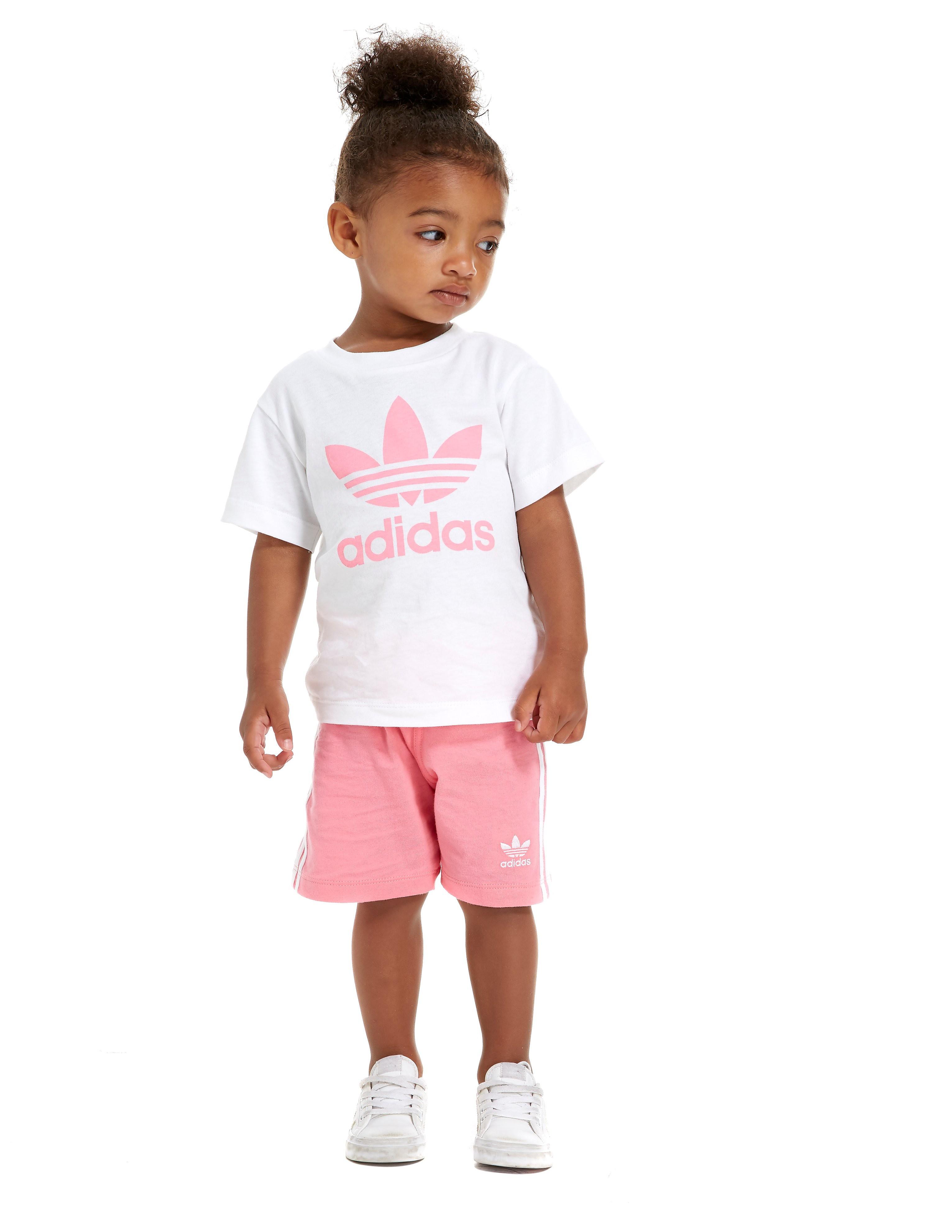 adidas Originals Girls' Trefoil T-Shirt and Short Set Infant
