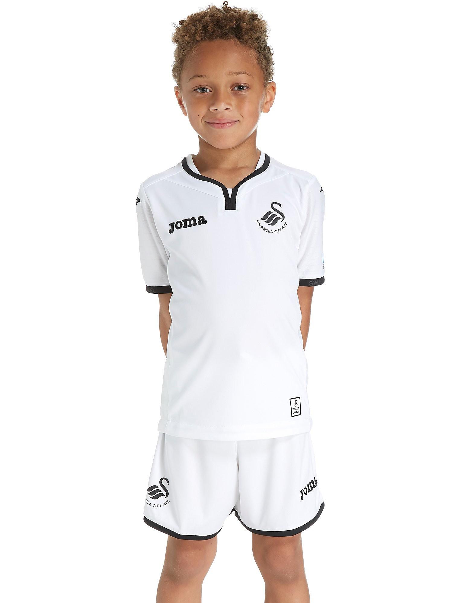 Joma conjunto Swansea City FC 2017/18 1.ª equipación infantil