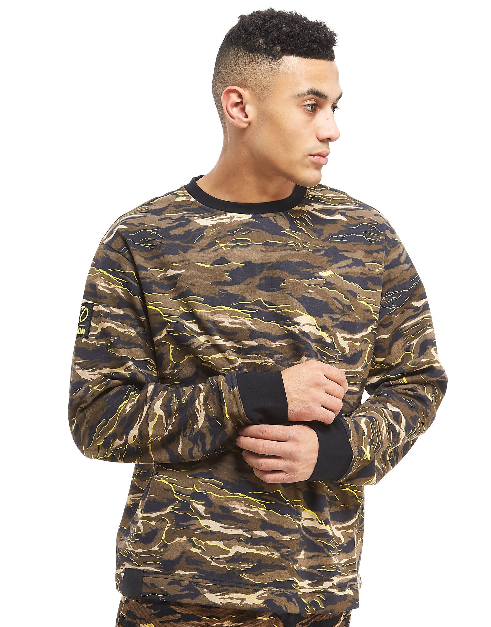 PUMA XO All-Over-Print Camo Sweatshirt