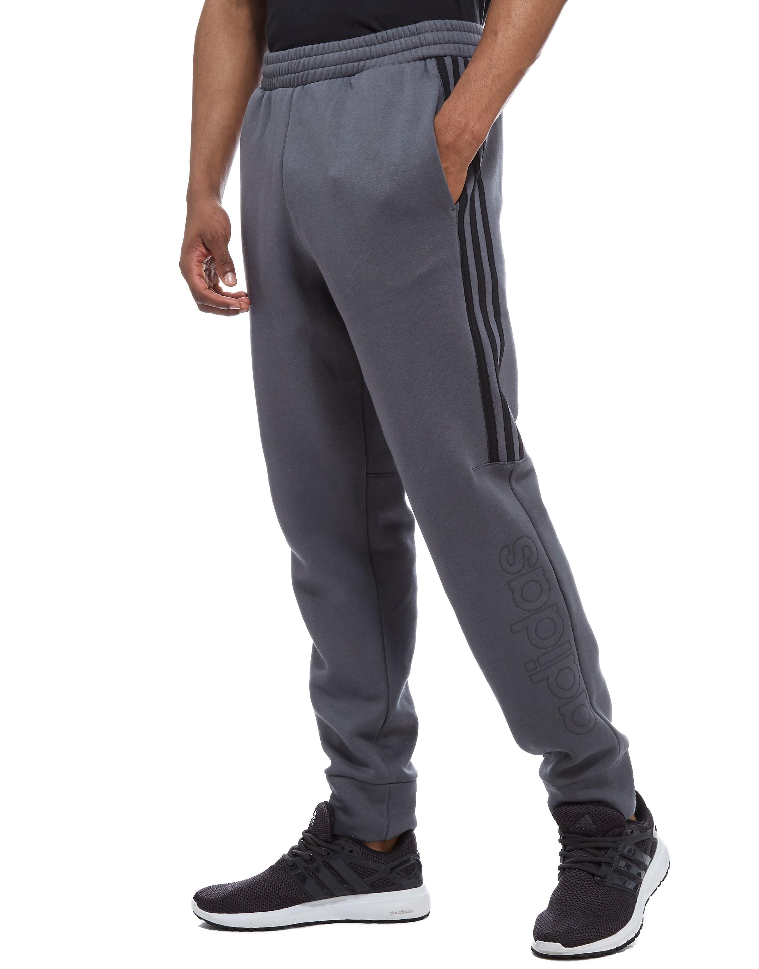 adidas Pantalon Linear Fleece Homme - gris/noir, gris/noir
