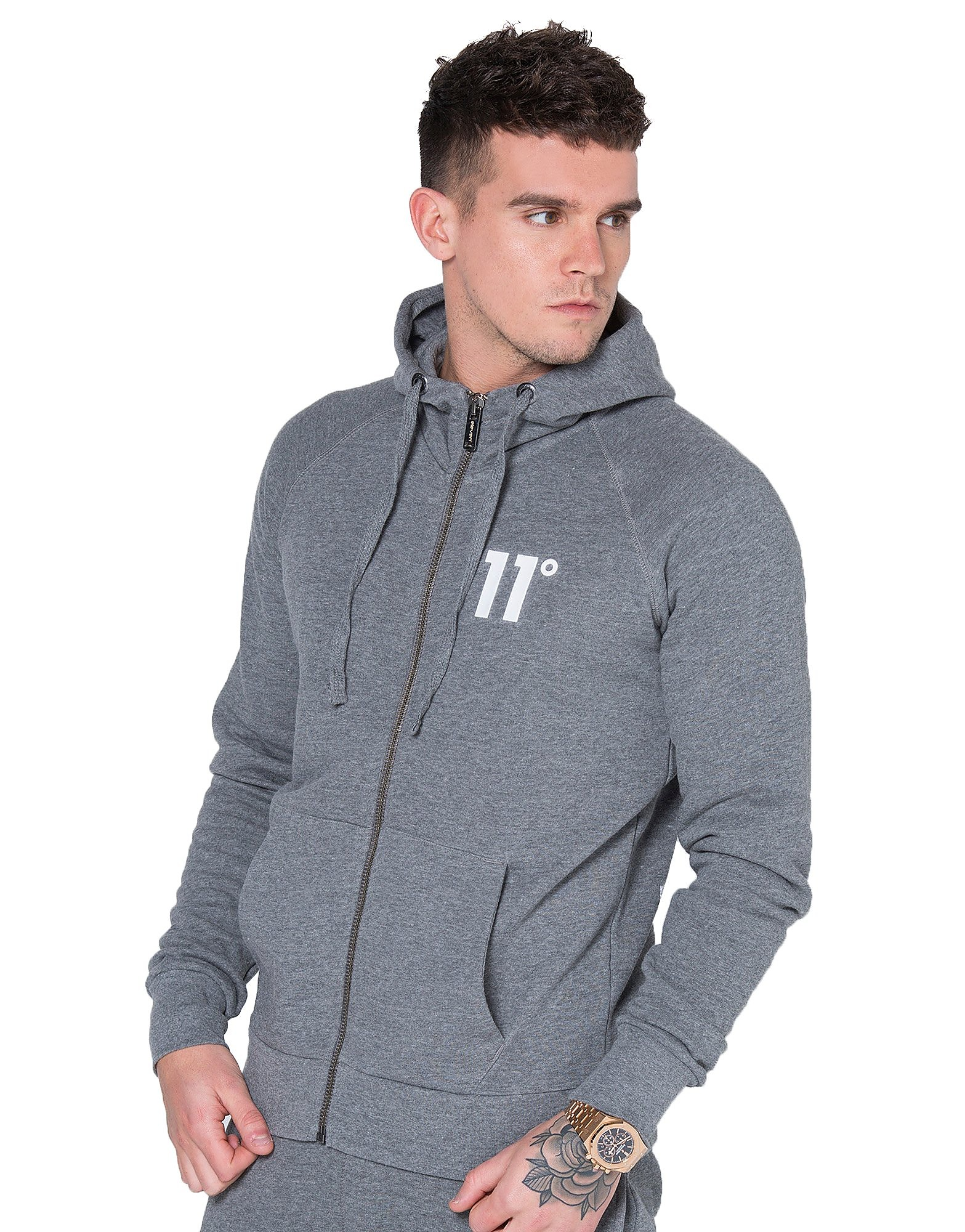 11 Degrees Zip Through Fleece Hoodie