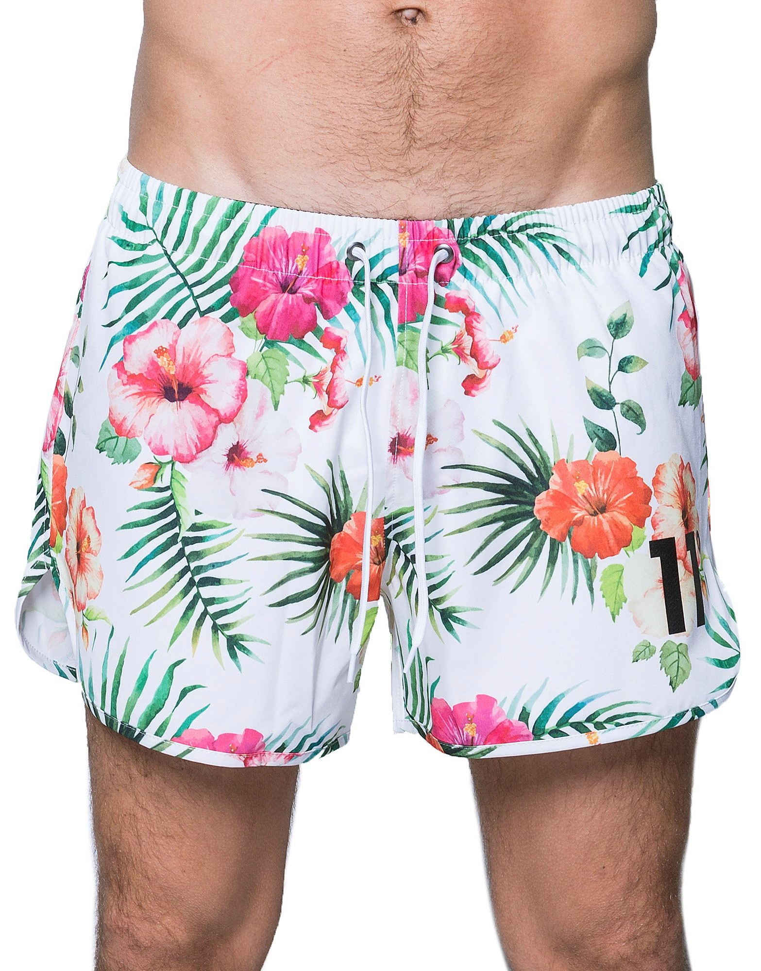 11 Degrees Floral Hawaiian Swim Short