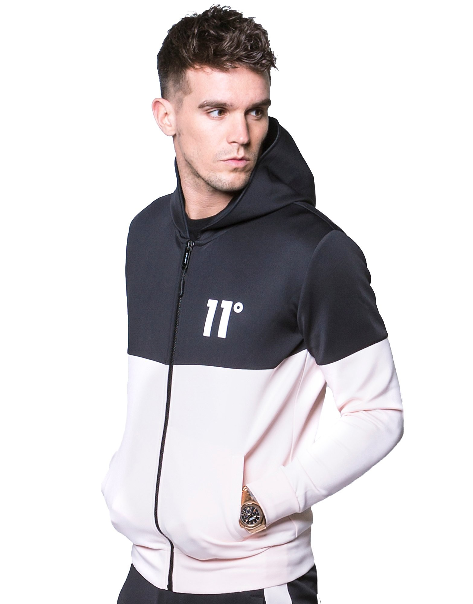 11 Degrees Colour Block Poly Jacket