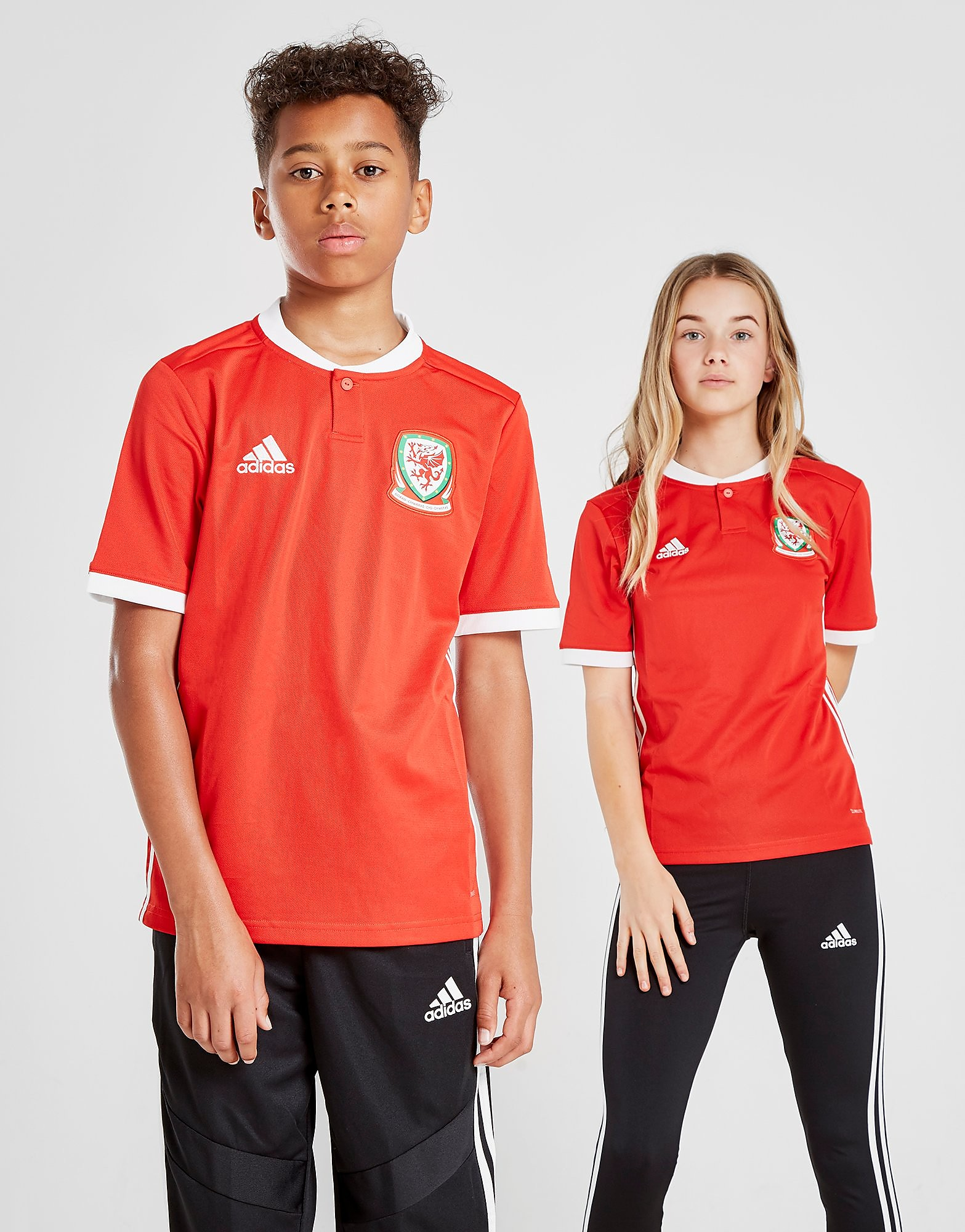 adidas Wales 2017/18 Home Shirt Junior