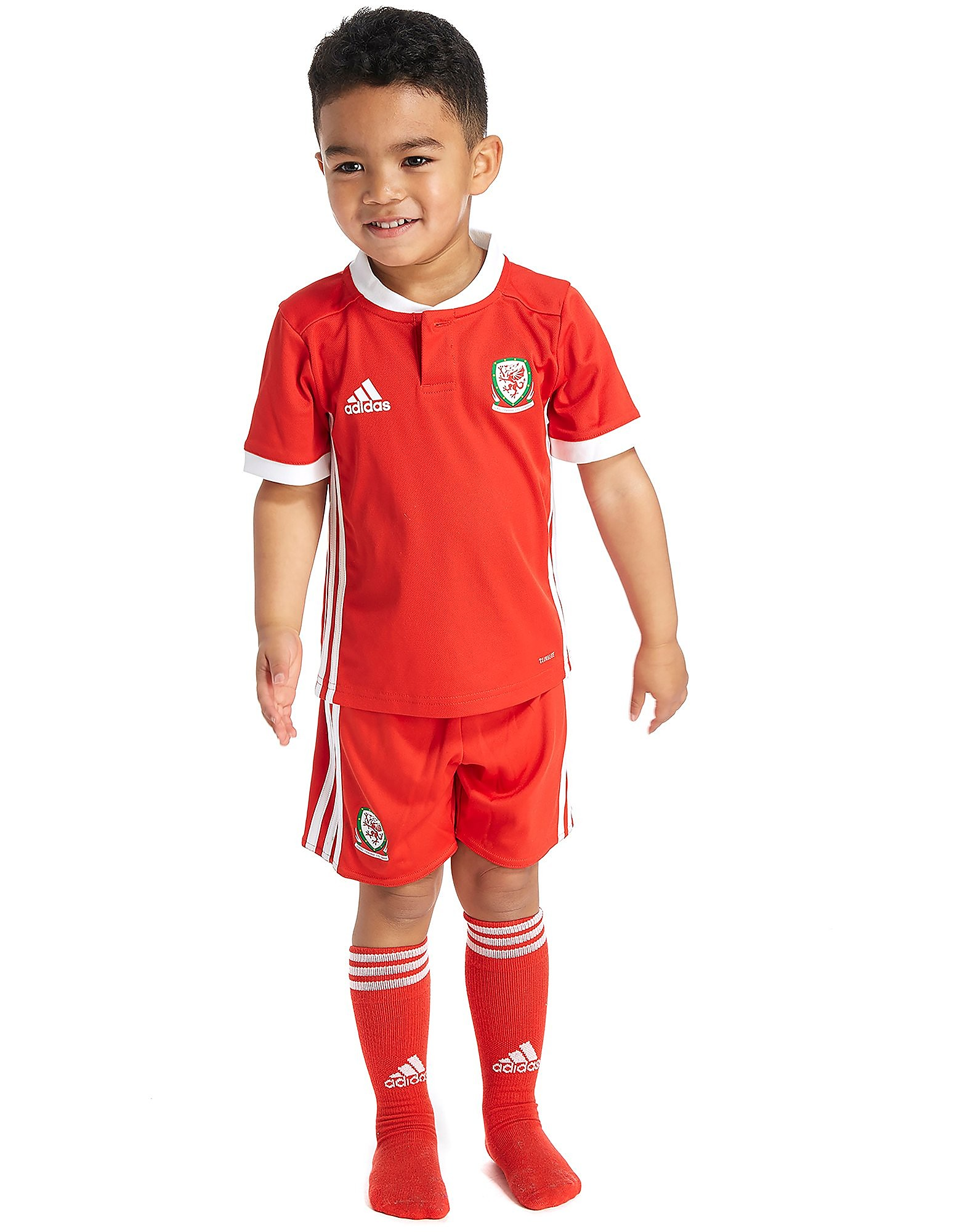 adidas Wales 2017/18 Home Kit Children