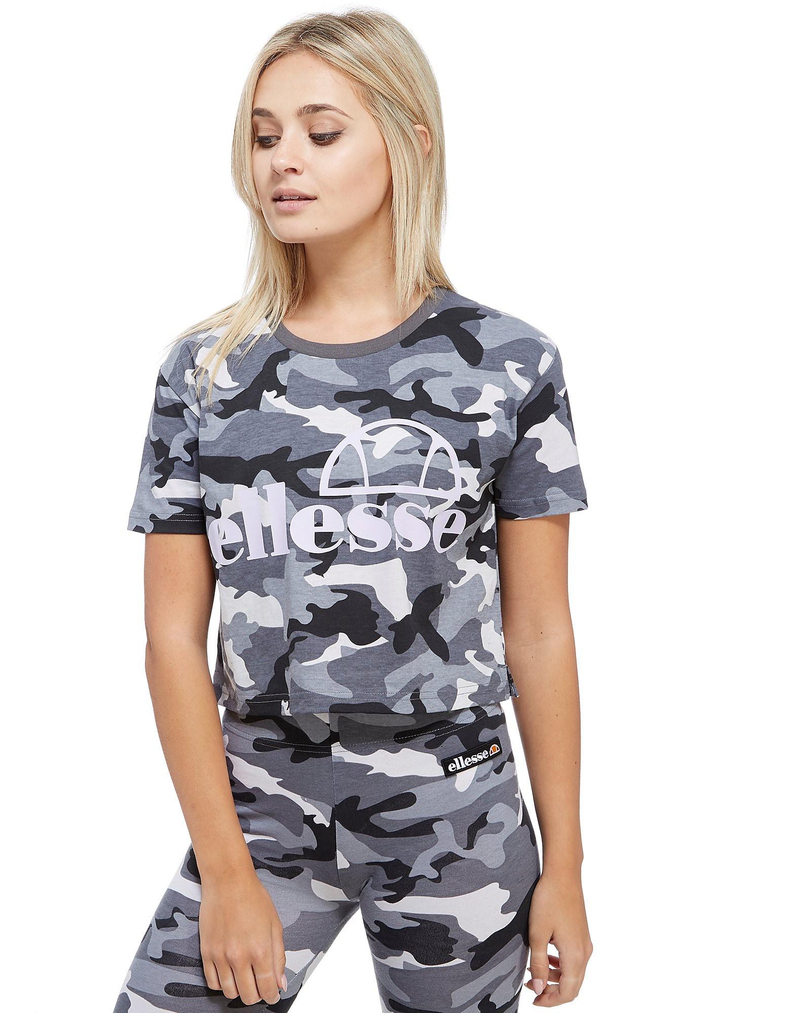 Ellesse Camo Cropped T-Shirt