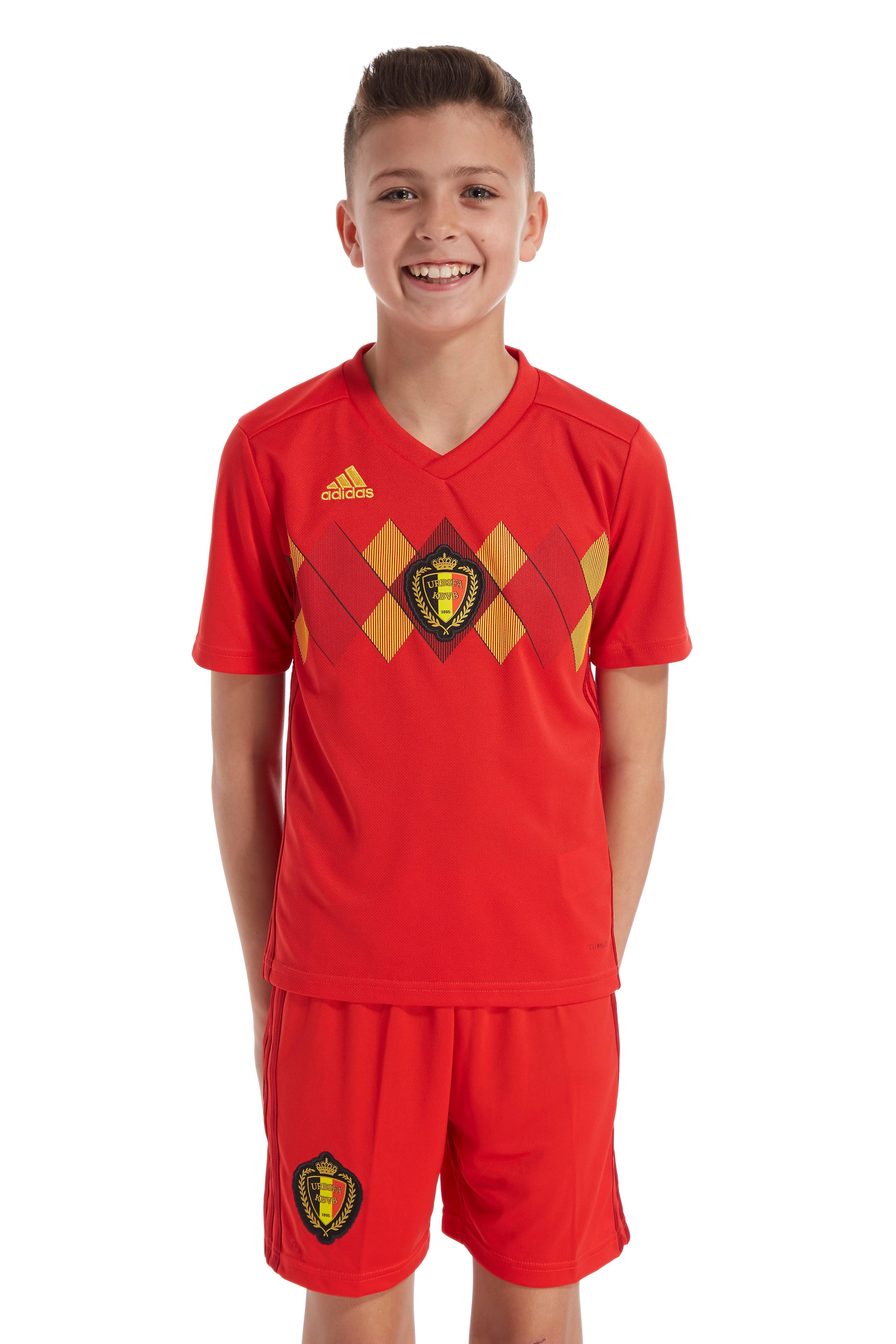adidas Belgium 2017/18 Home Jersey Junior Rood Kind