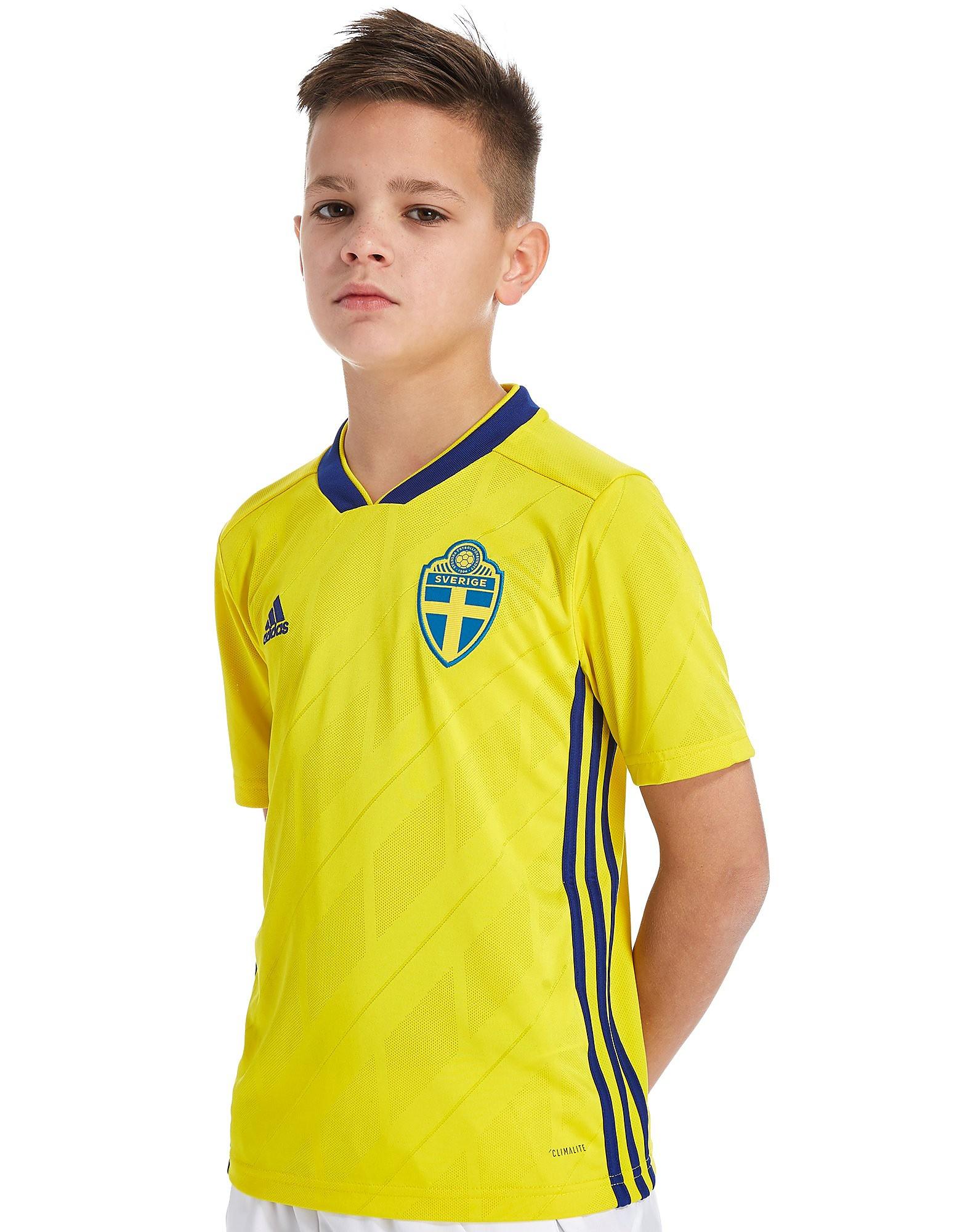 adidas Sweden 2017/18 Home Shirt Junior