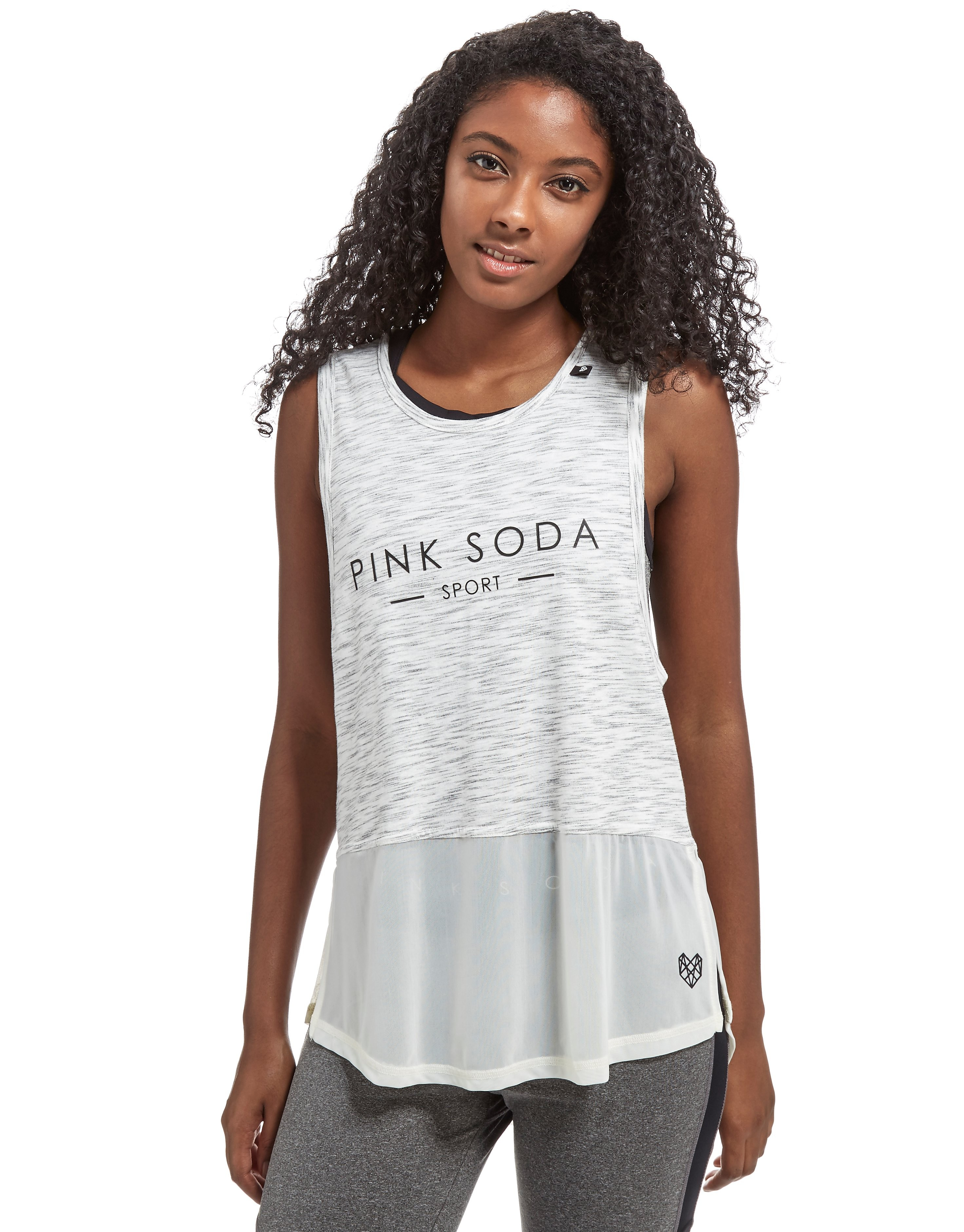 Pink Soda Sport Spacedye Muscle Tank Top