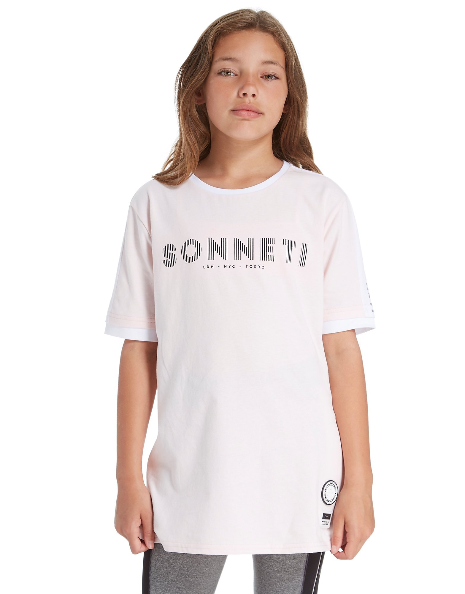 Sonneti Girls' Panel Boyfriend T-Shirt Junior