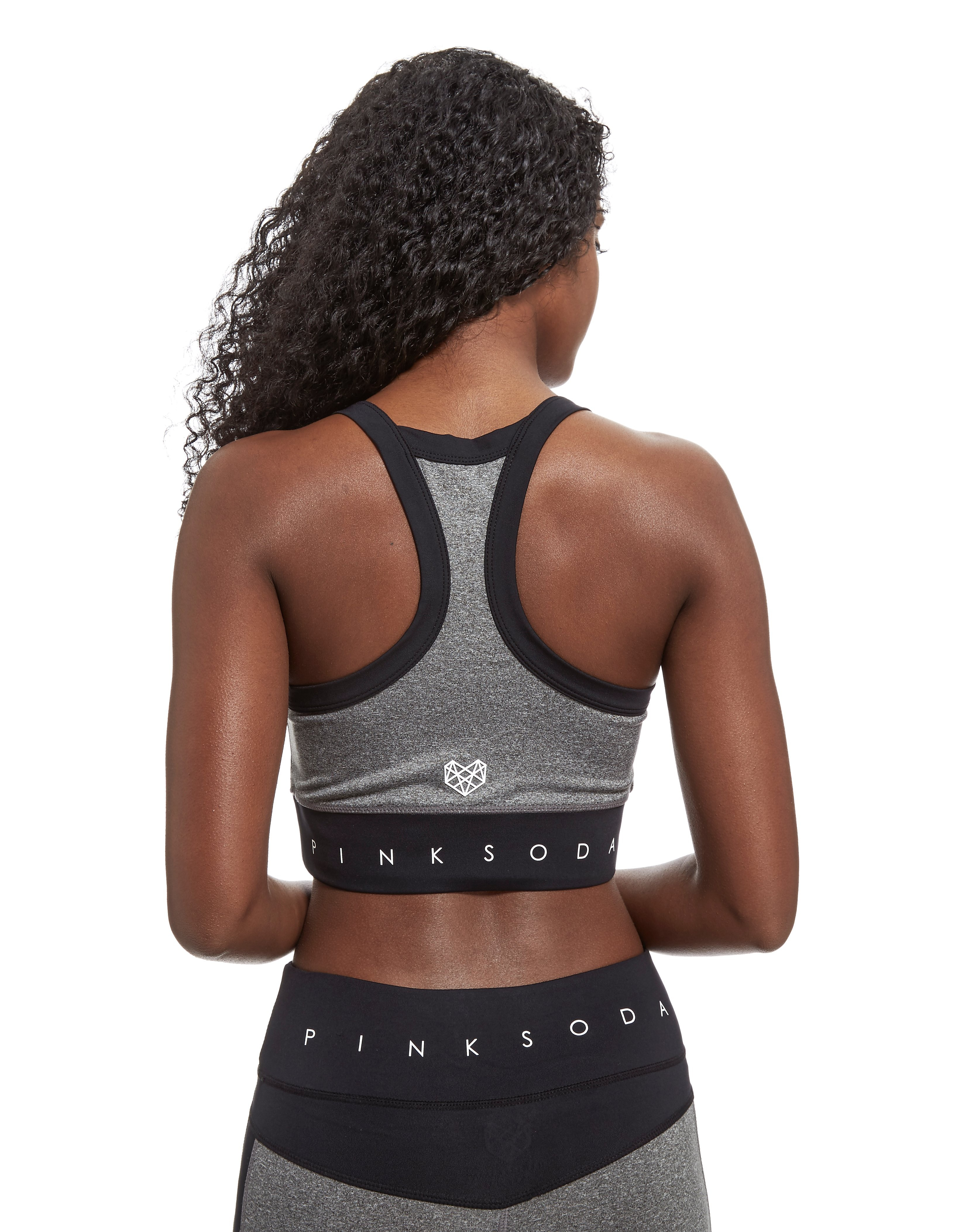 Pink Soda Sport Mix Panel Sports Bra
