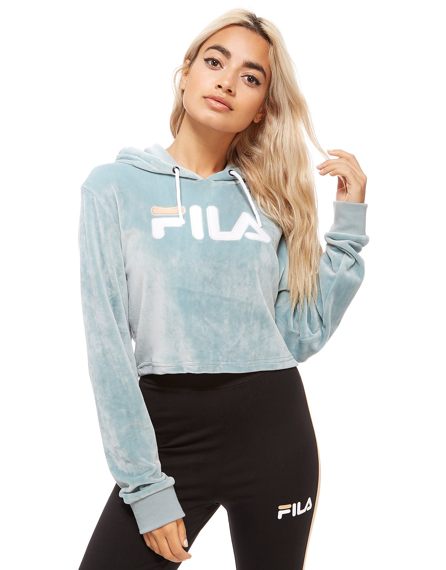 Fila Cropped Velour Hoodie