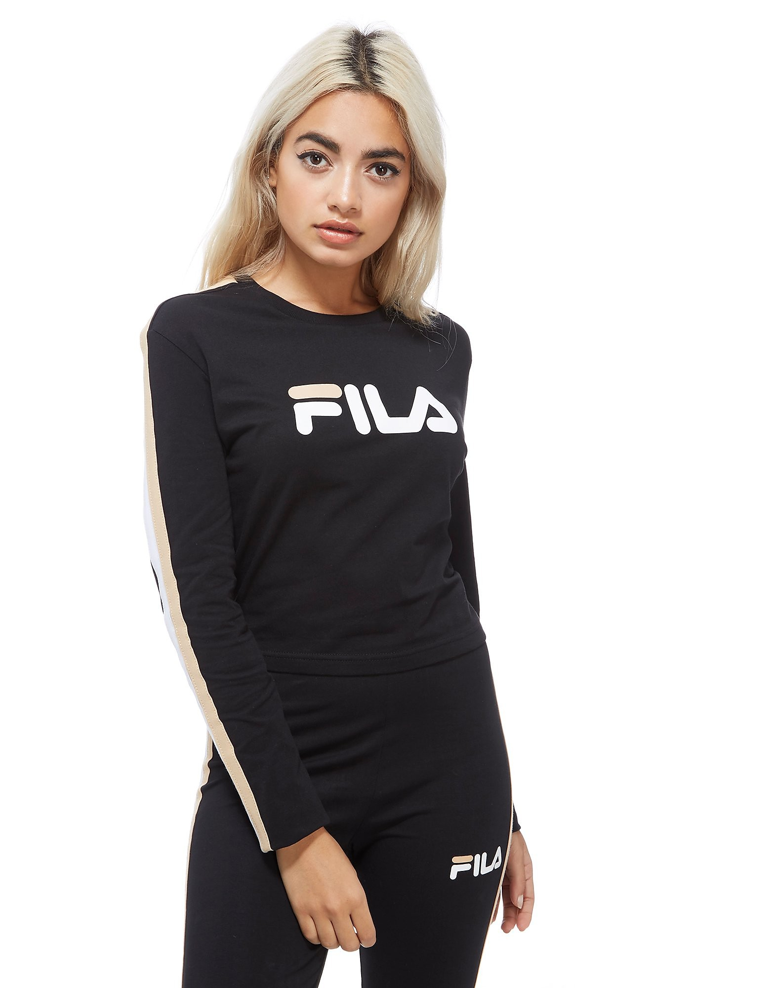 Fila camiseta de manga larga Crop Top