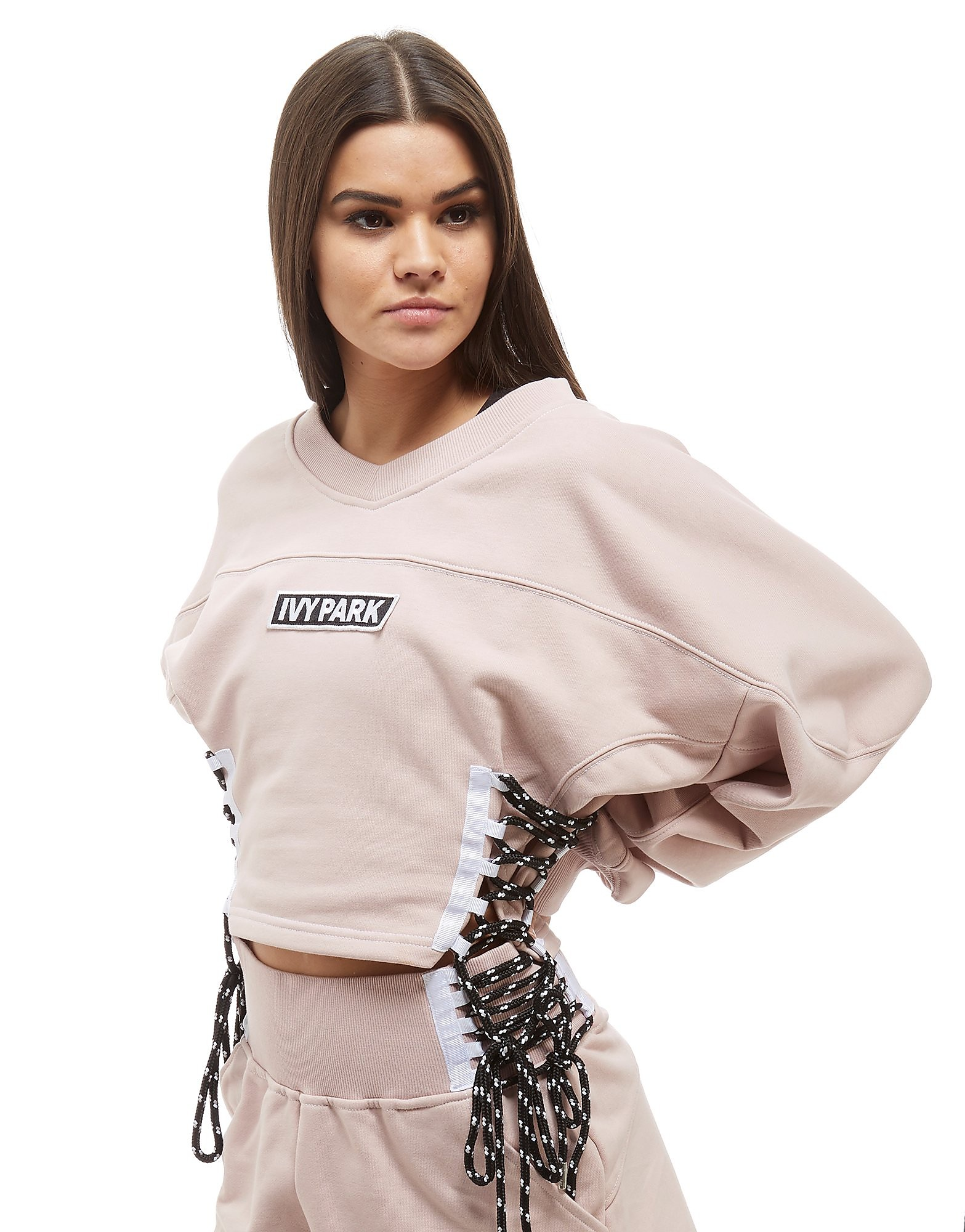 IVY PARK Lace Up Crew Sweatshirt