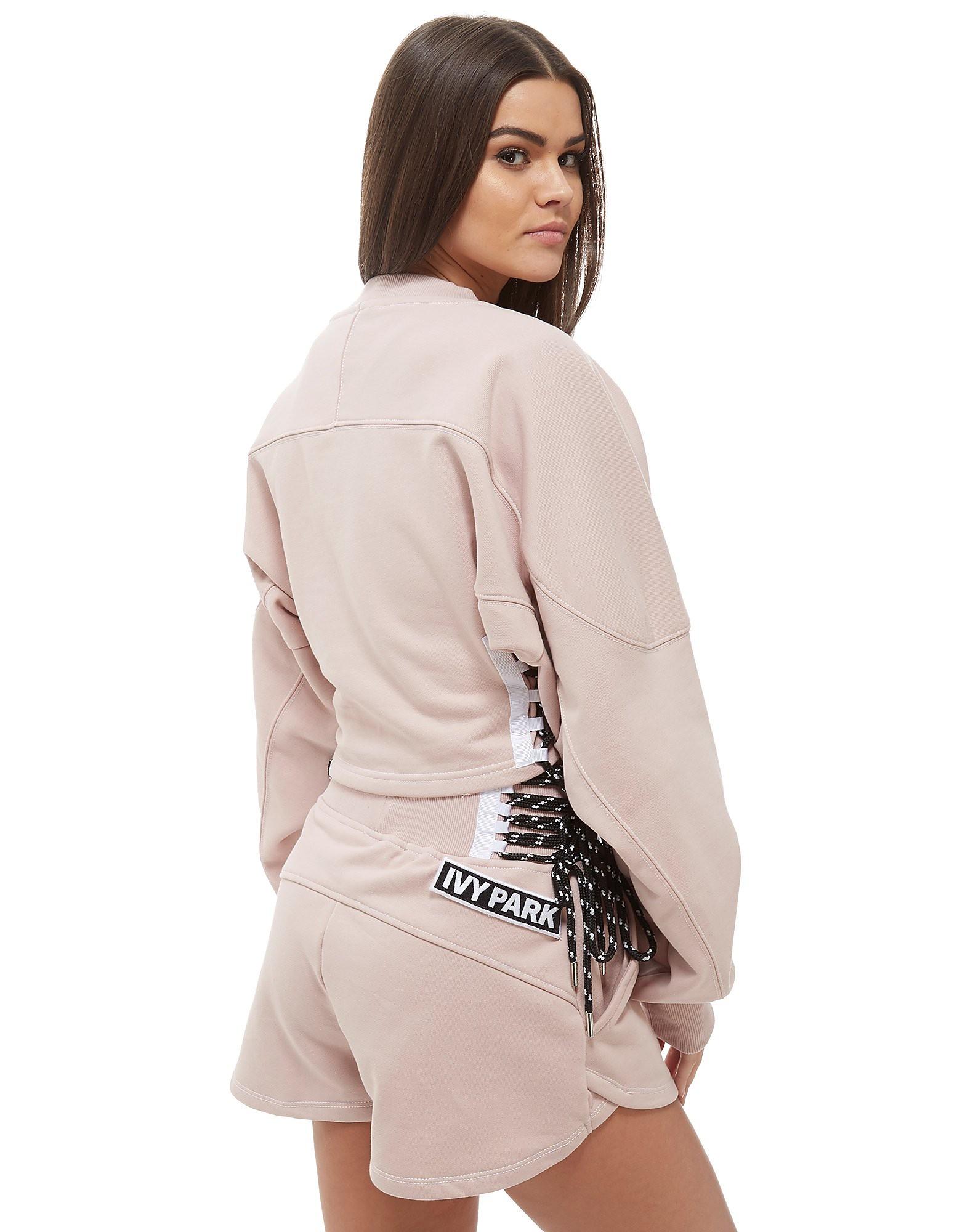 IVY PARK Lace Up Crew Sweatshirt
