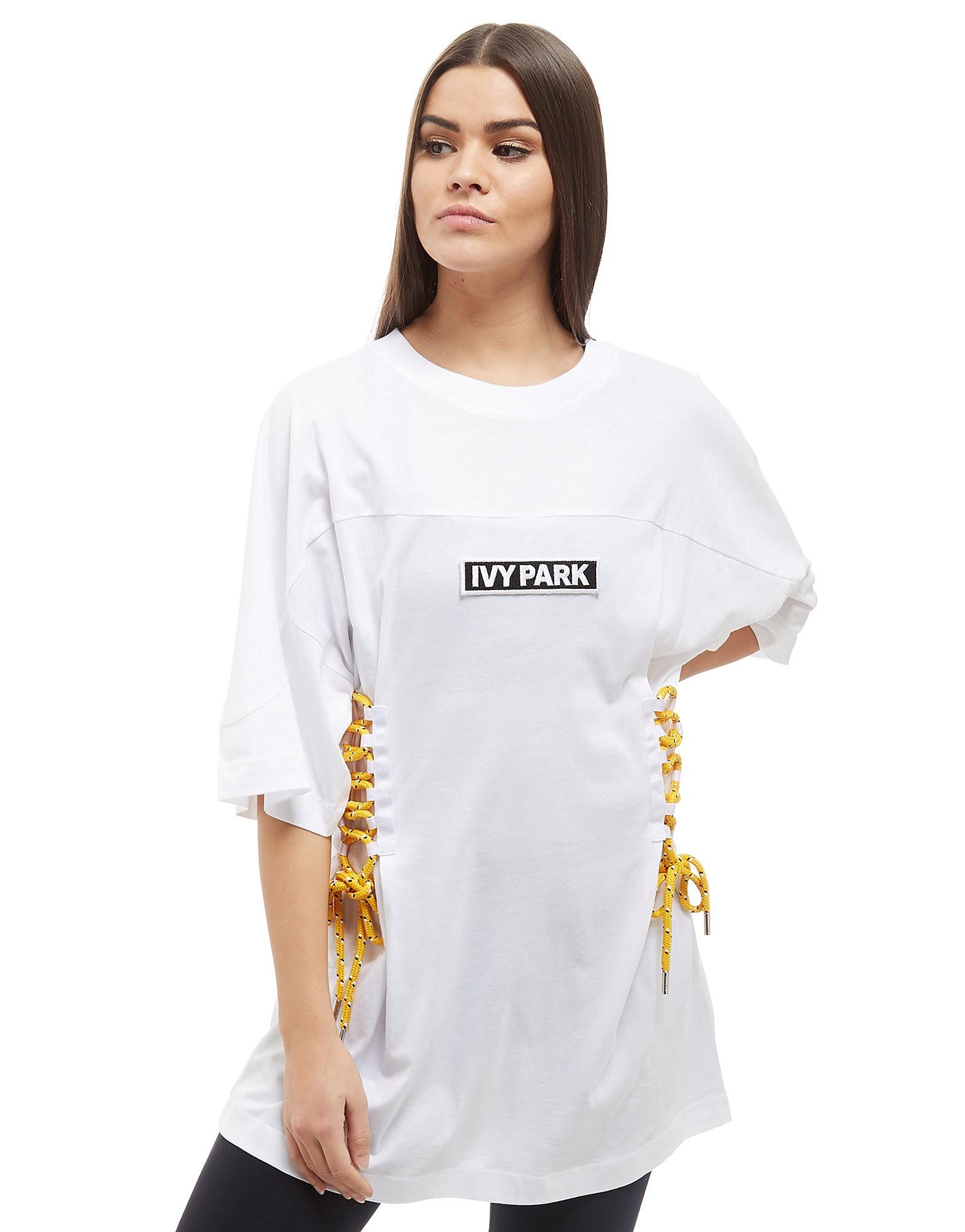 IVY PARK Lace Up Boyfriend T-Shirt