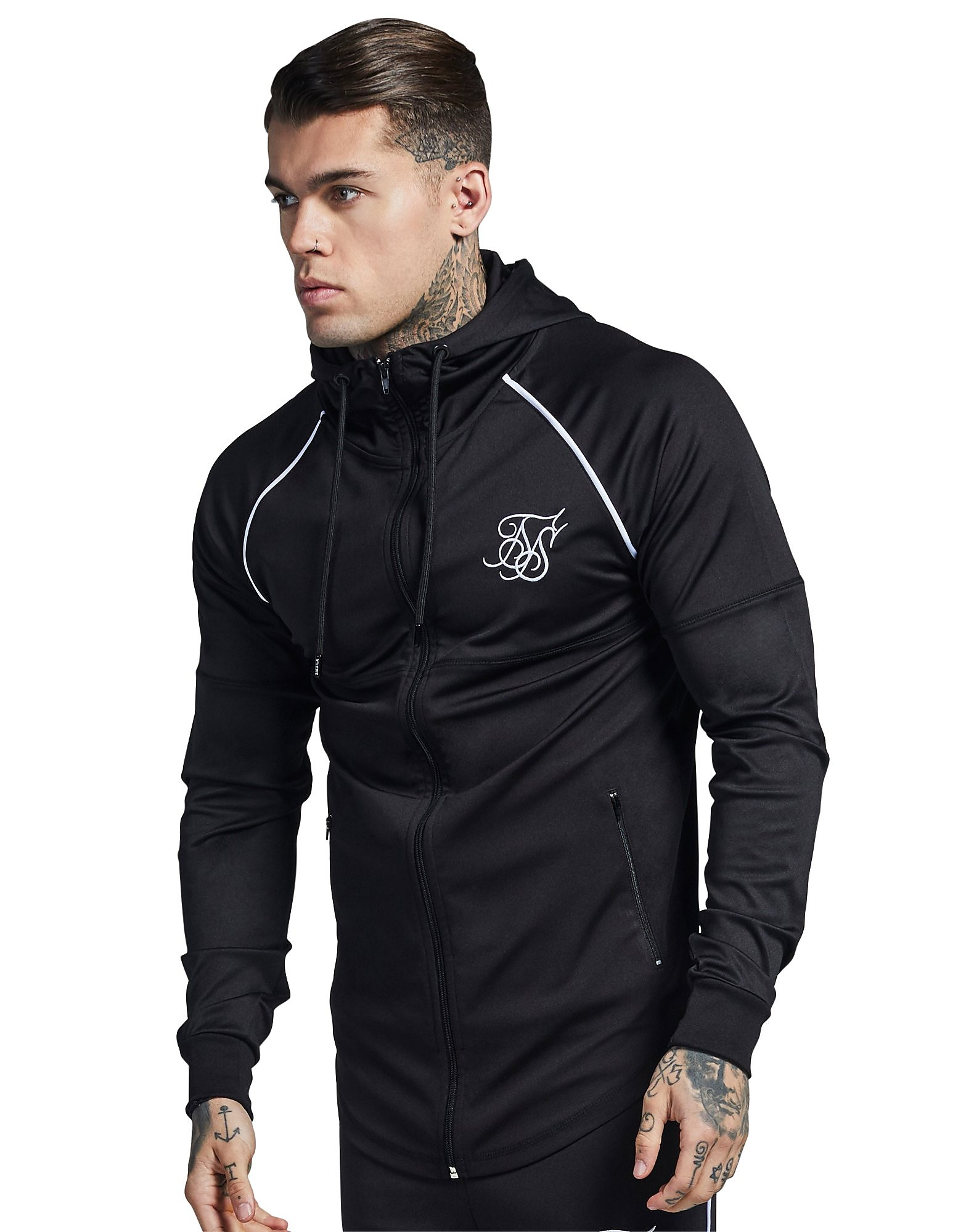 SikSilk Zonal Zip Through Track Top