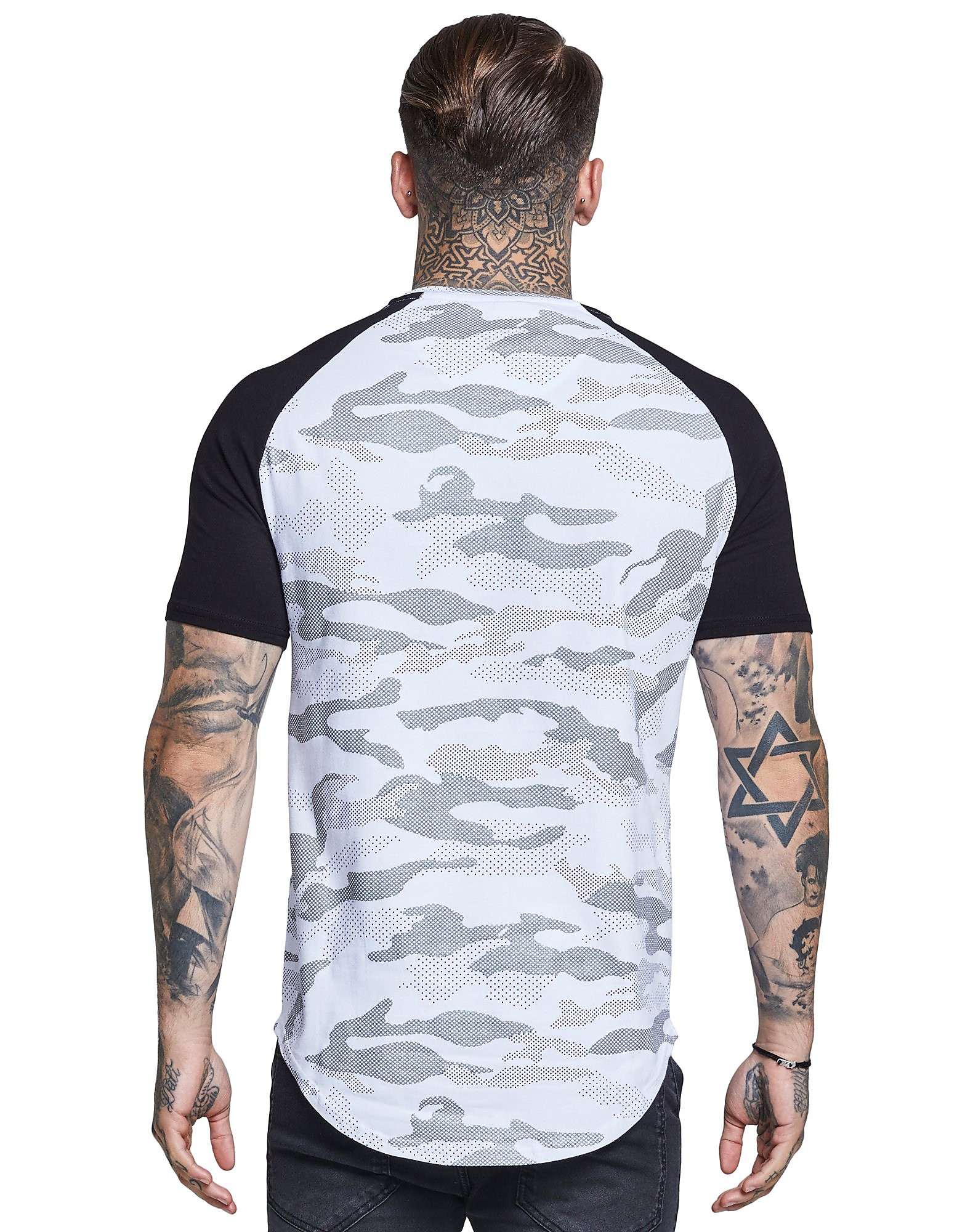 SikSilk Reflective Camo T-Shirt