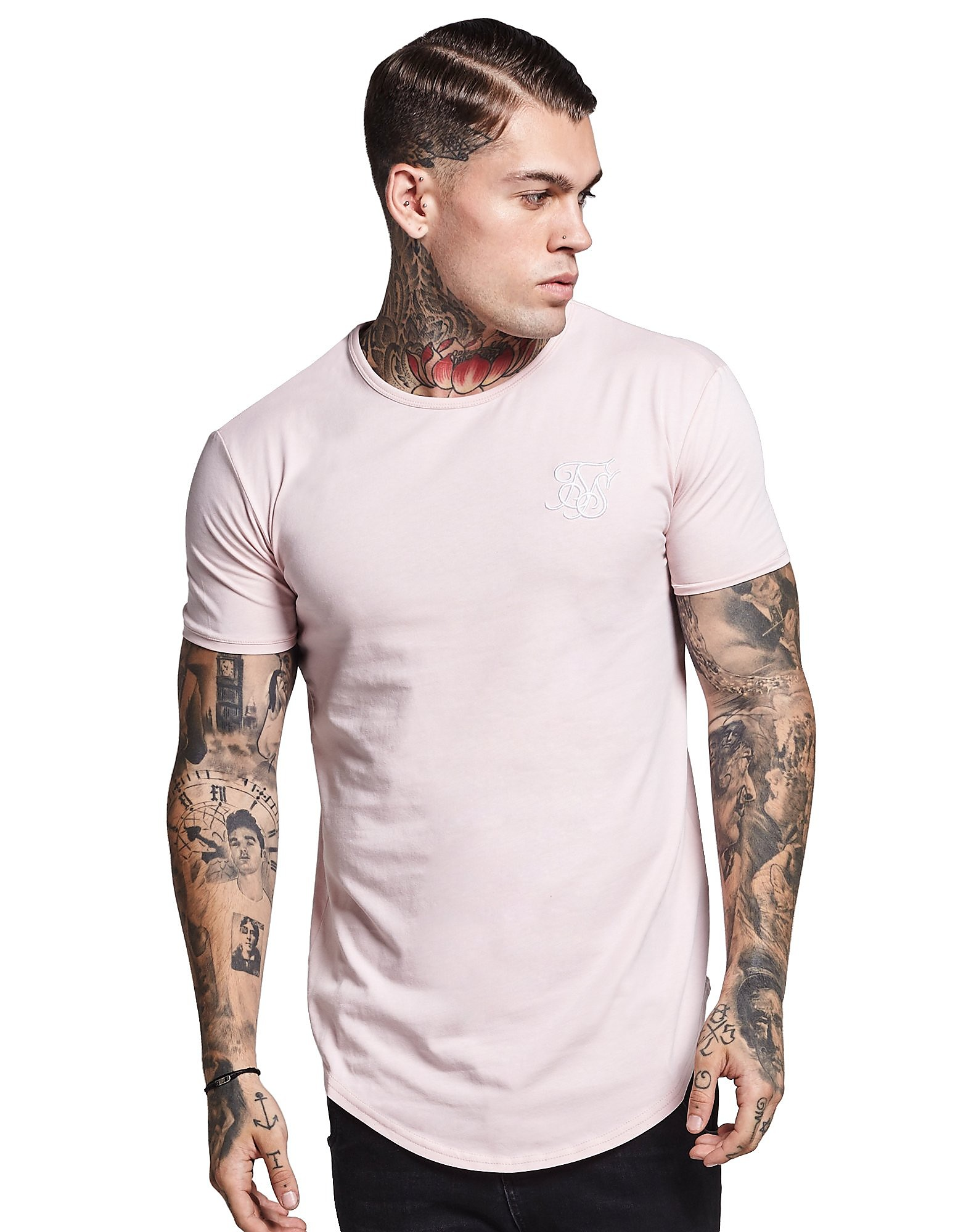SikSilk Short Sleeve Core T-Shirt Pink