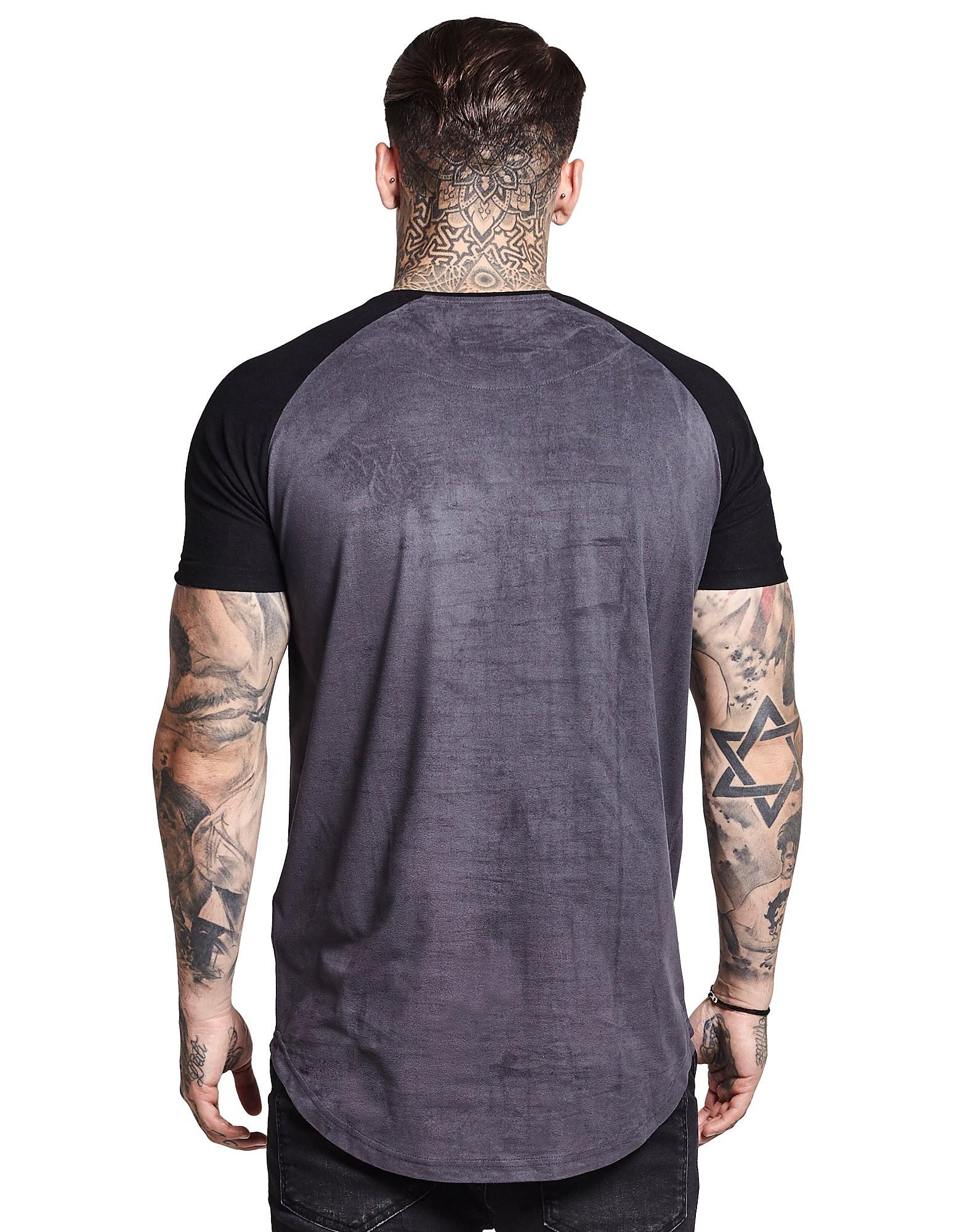 SikSilk Raglan Suede T-Shirt