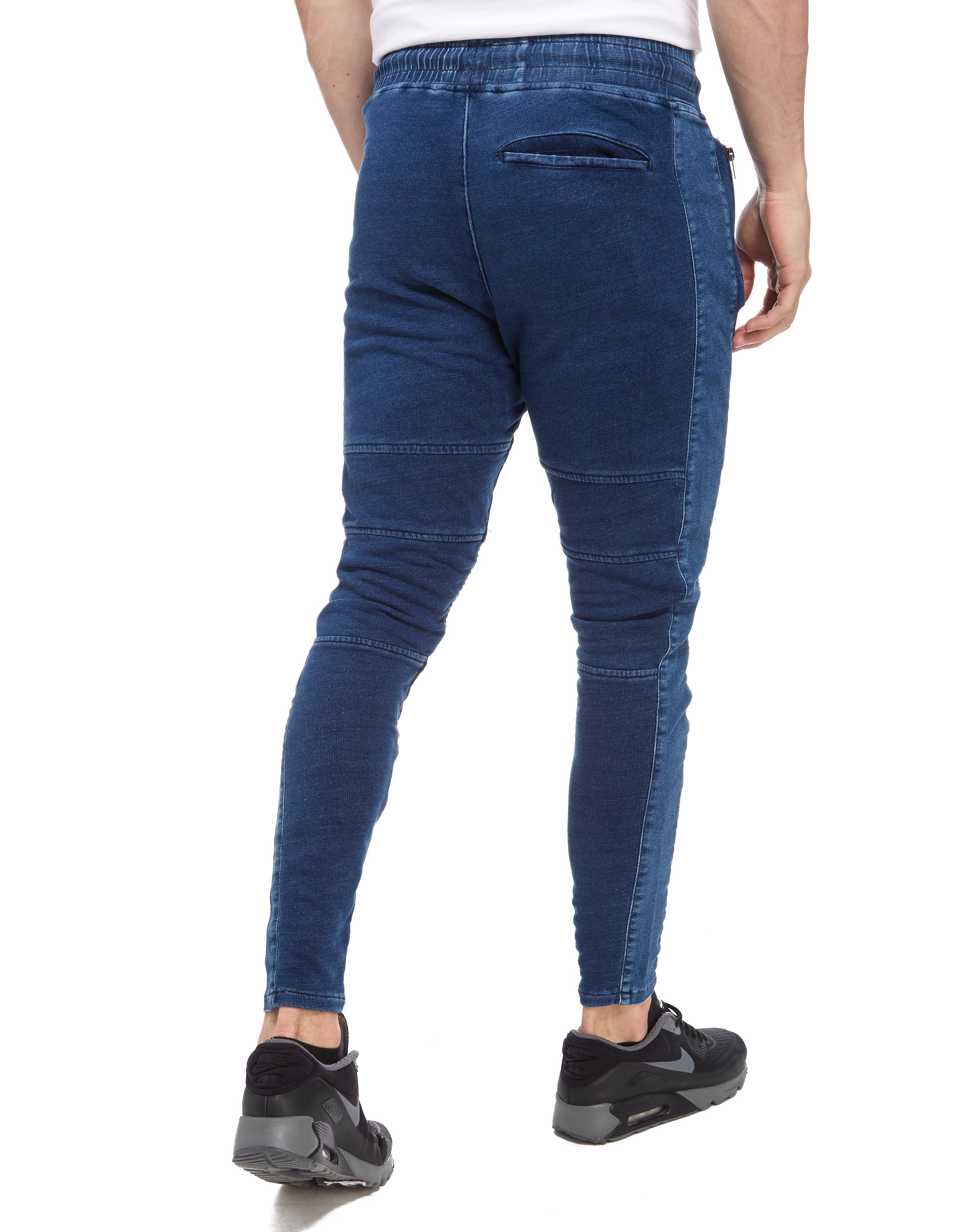 SikSilk Biker Denim Joggers