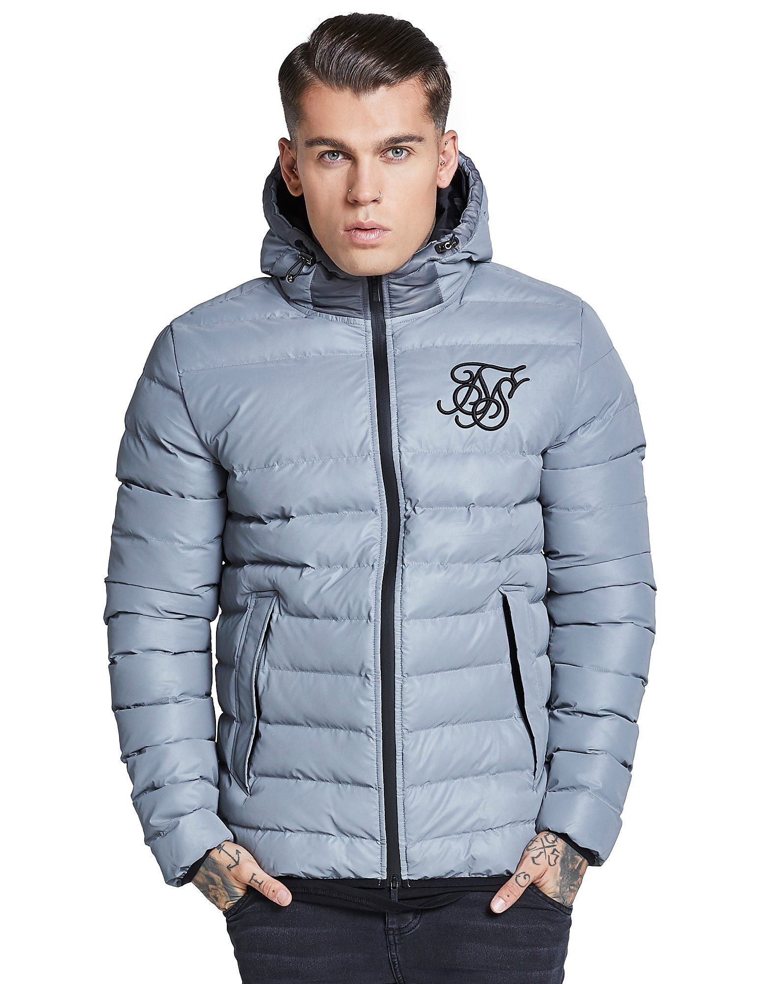 SikSilk Reflective Bomber Jacket