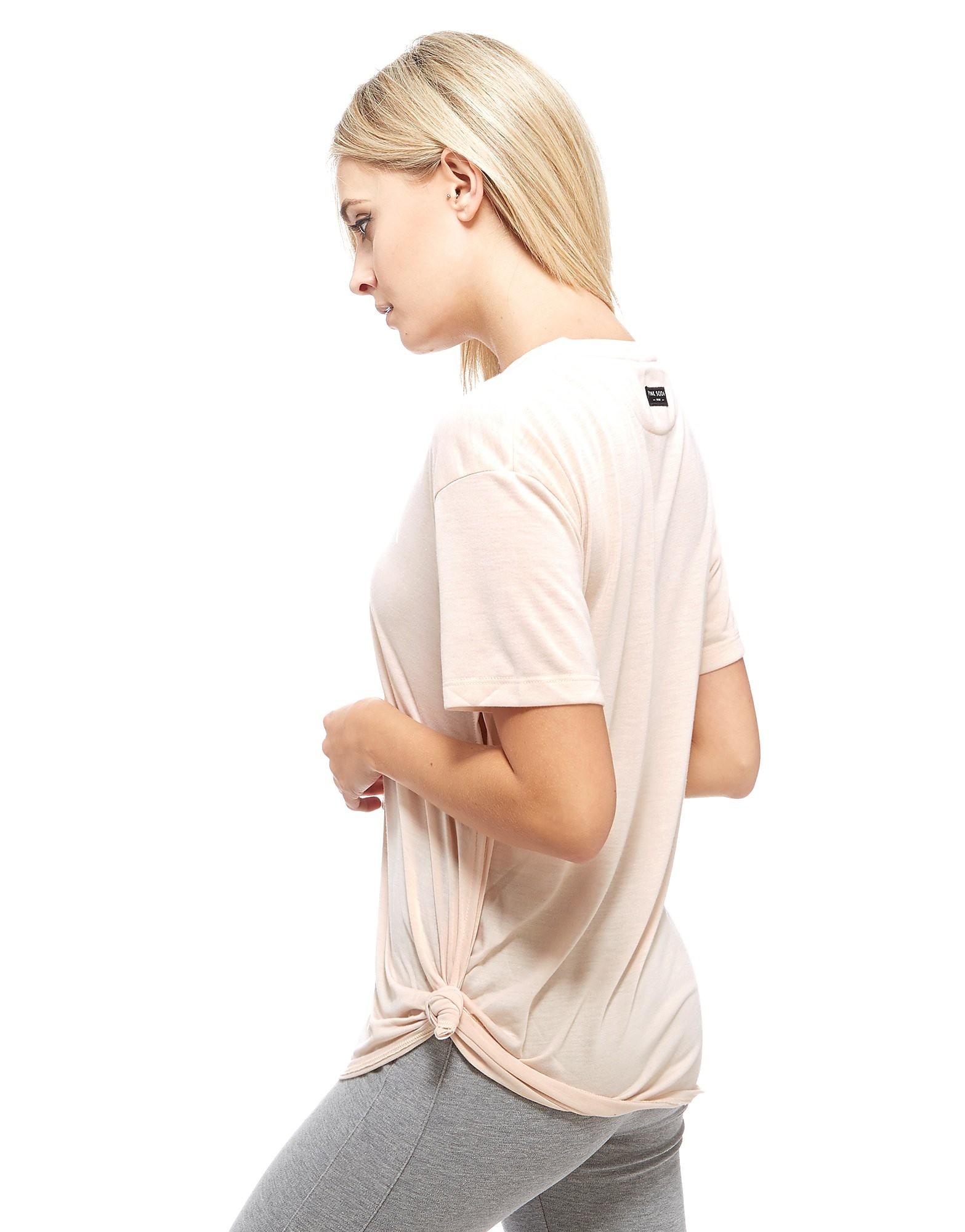 Pink Soda Sport Reps Knot T-Shirt Dames