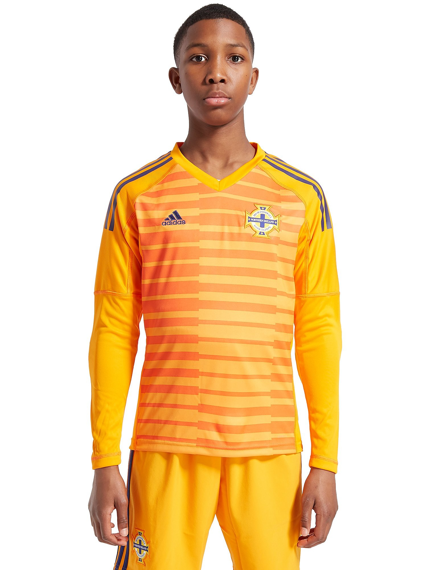 adidas Northern Ireland 2018 Home Goal Keeper Shirt Jnr
