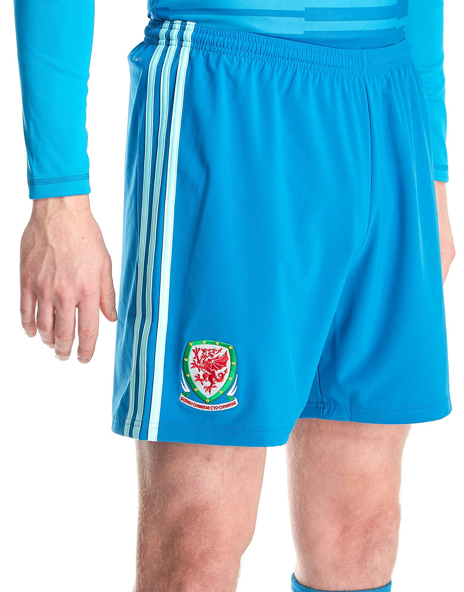 adidas pantalón corto de portero de Gales 2018 1.ª equipación